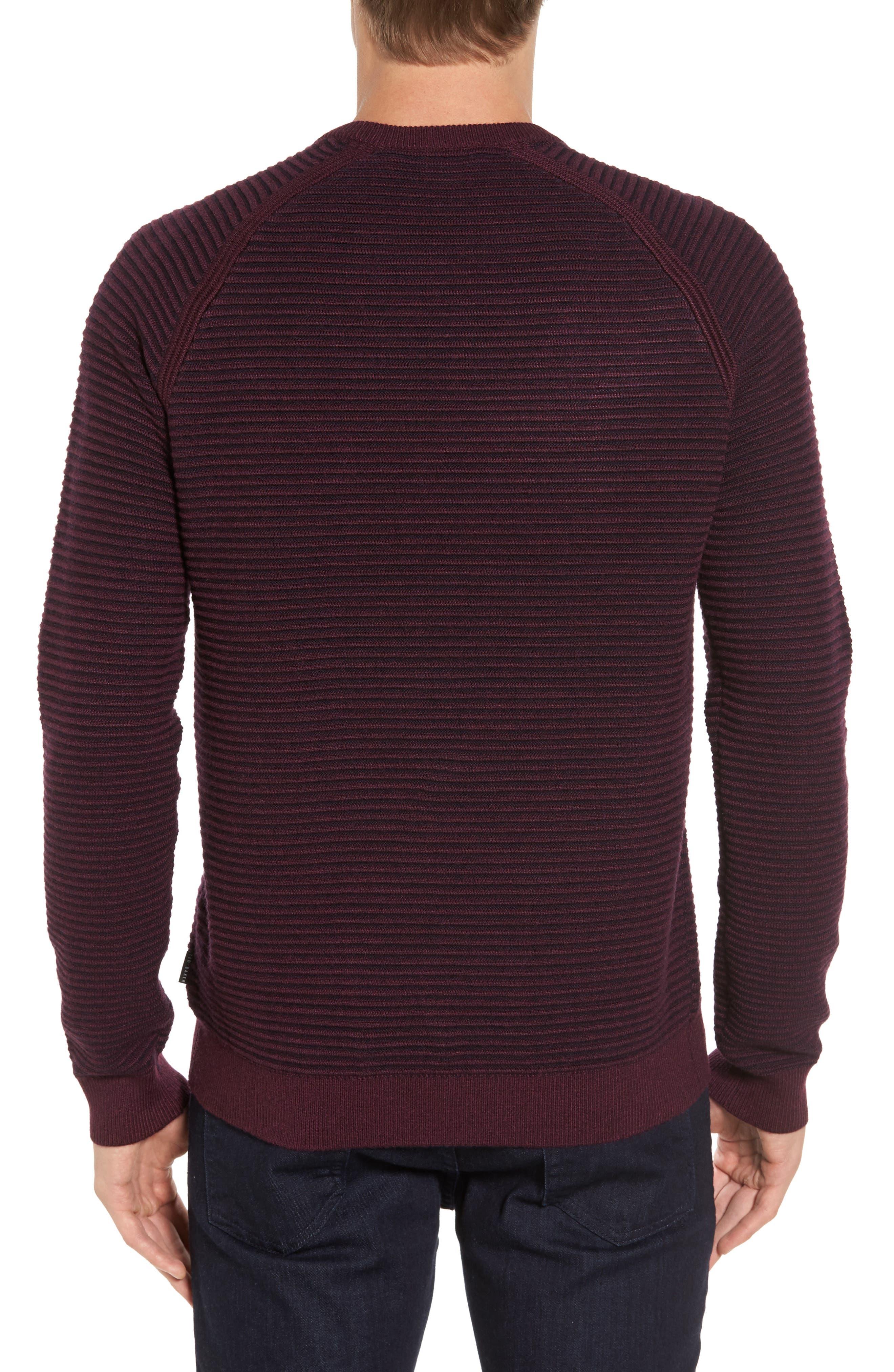 Cashoo Slim Fit Ribbed Sweatshirt,                             Alternate thumbnail 2, color,                             Purple