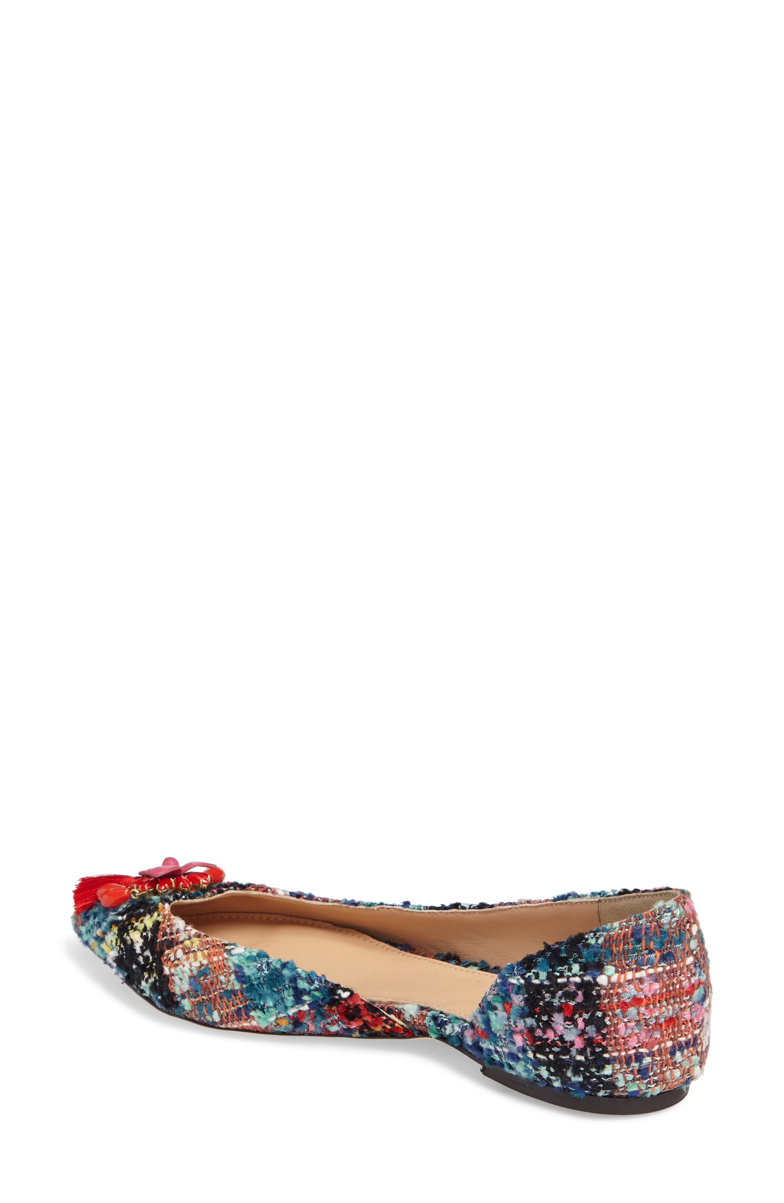 Sadie Pointy Toe Flat,                             Alternate thumbnail 2, color,                             Sundrenched Spearmint Fabric