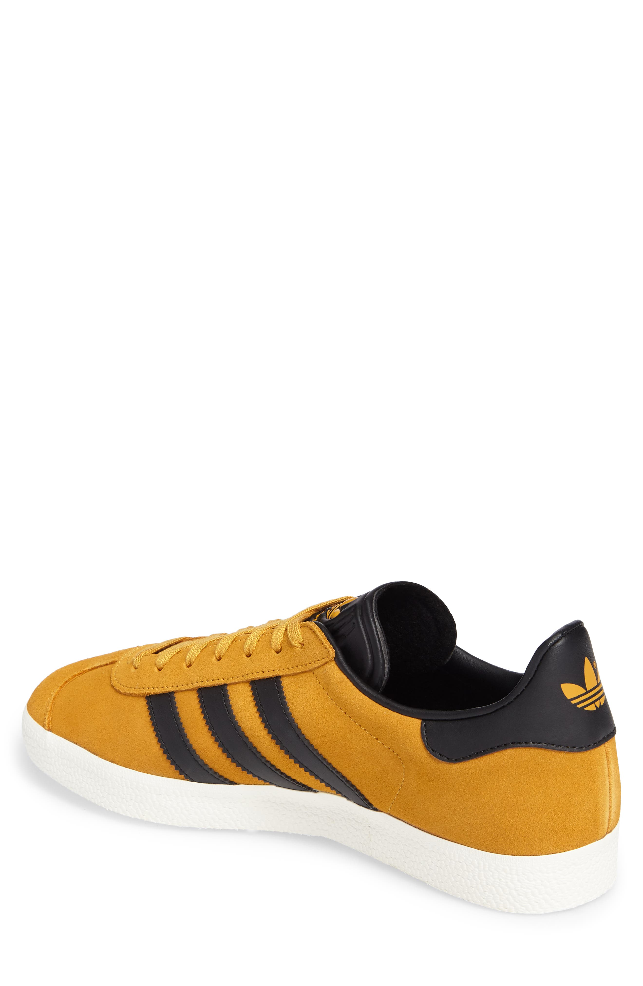 Gazelle Sneaker,                             Alternate thumbnail 2, color,                             Yellow/ Core Black/ Gold