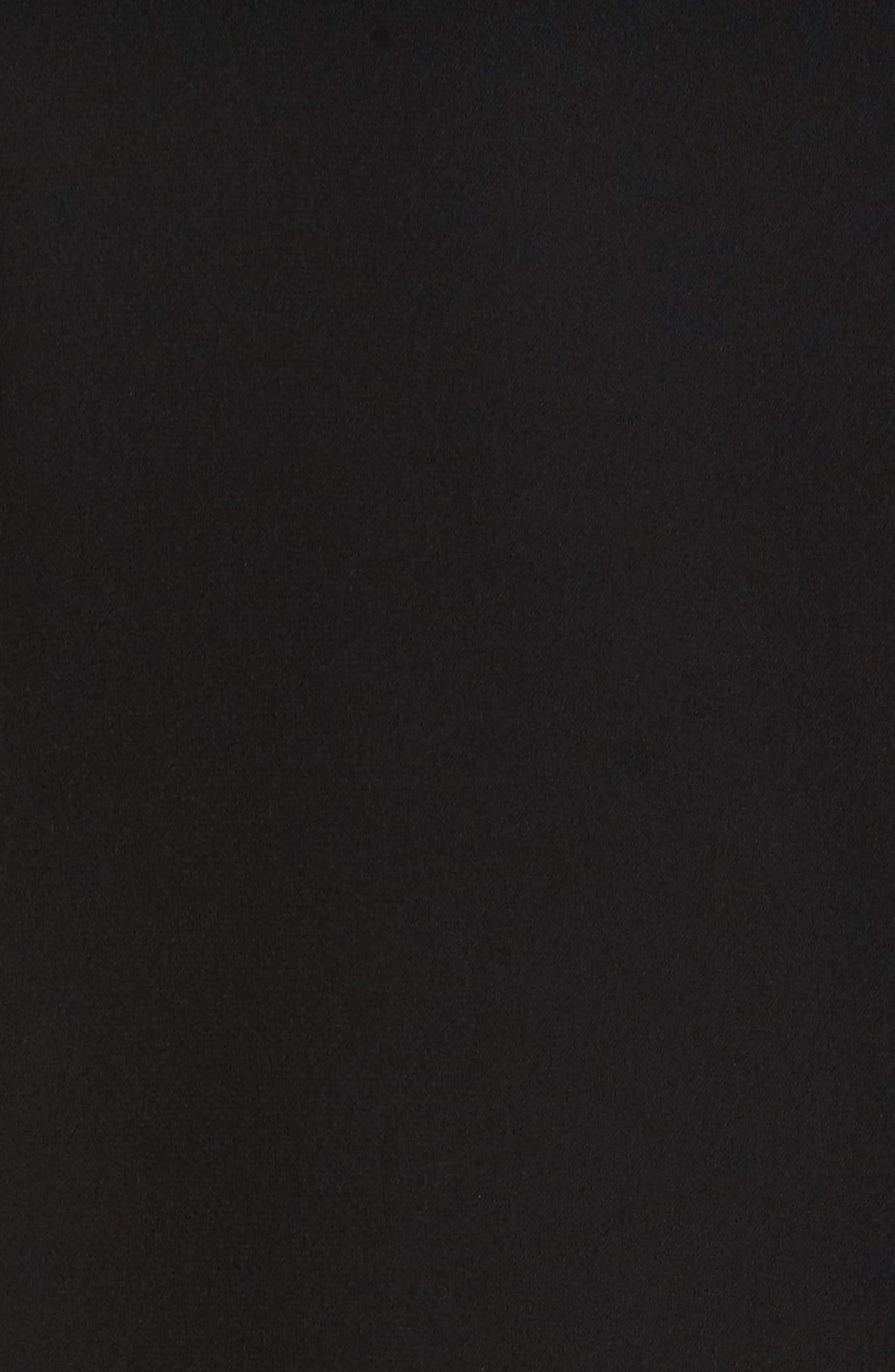 Mya Lace Hem Dress,                             Alternate thumbnail 7, color,                             Black