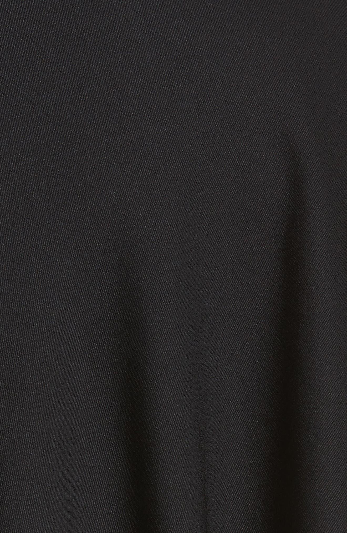 Eco Drape Dress,                             Alternate thumbnail 6, color,                             Black