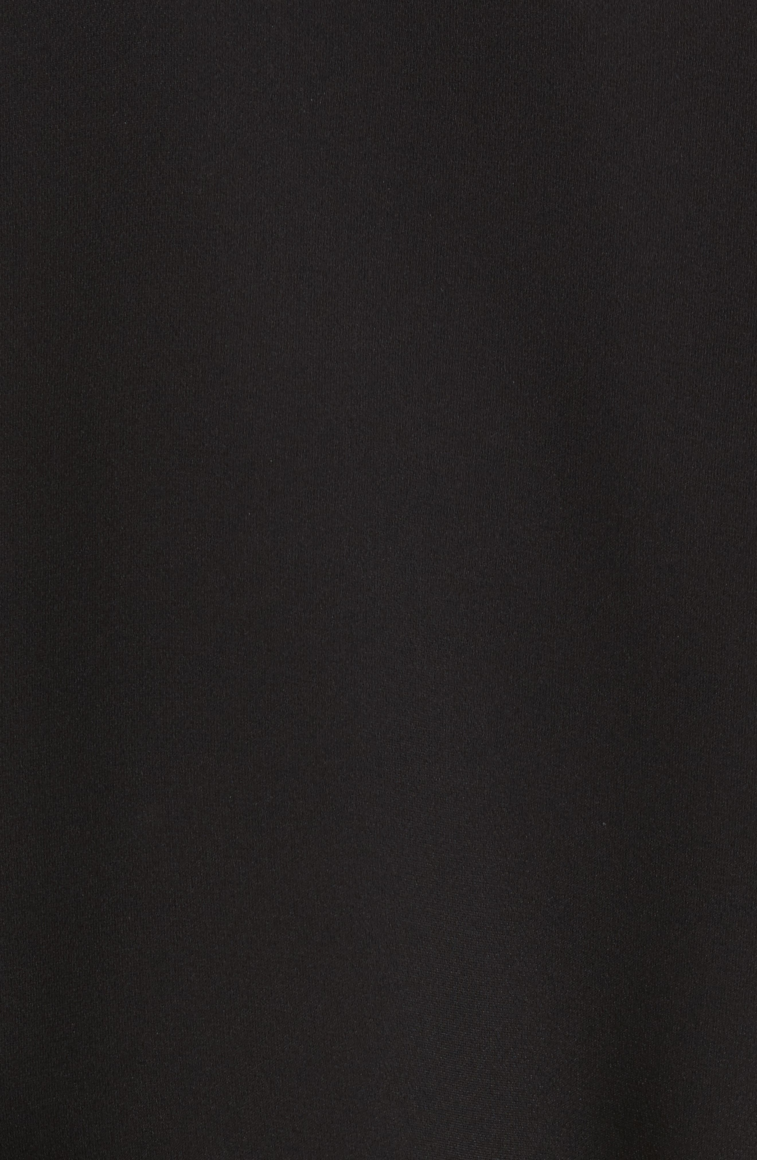 Lara One-Shoulder Tie Silk Top,                             Alternate thumbnail 7, color,                             Black