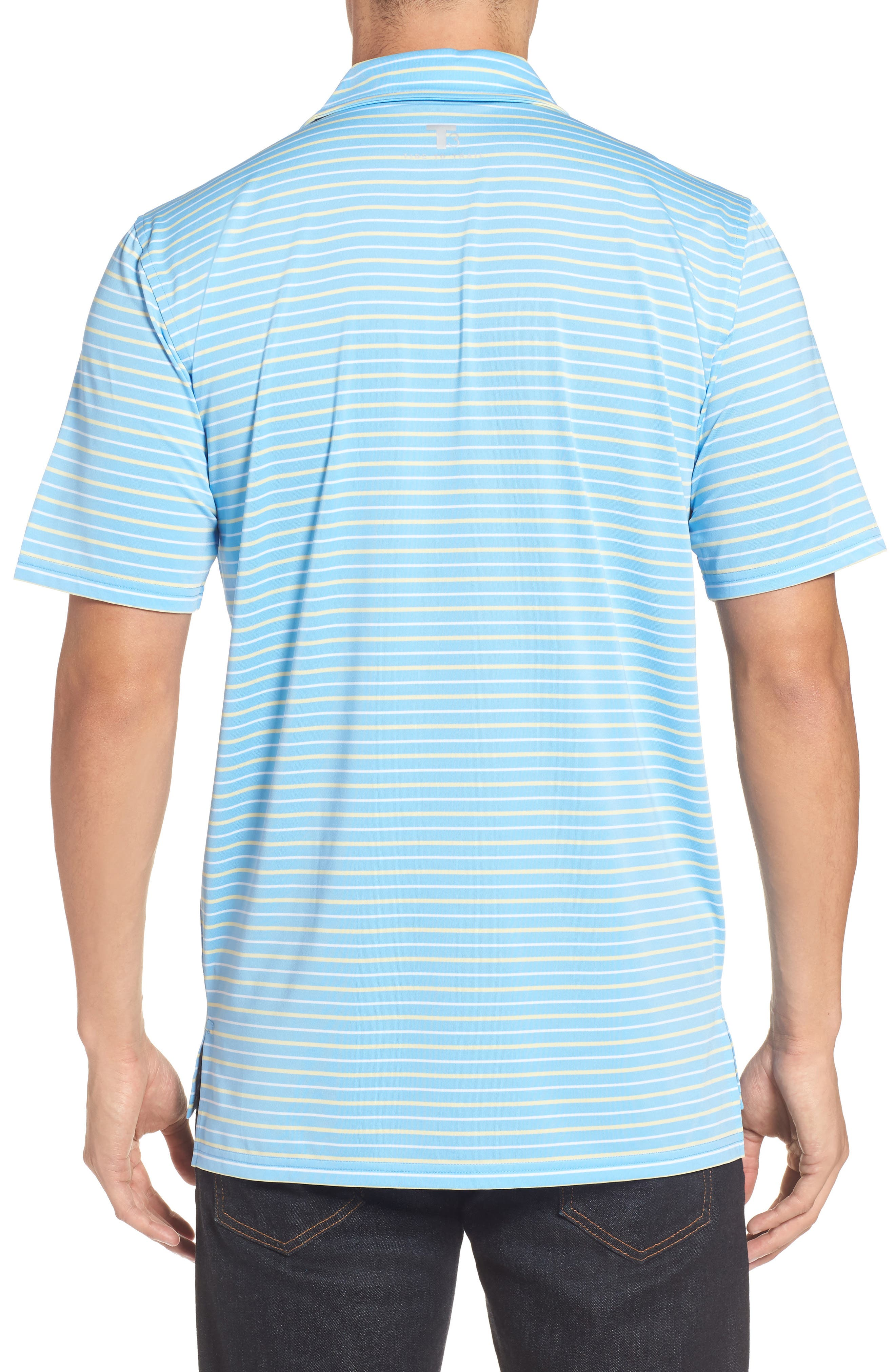 Driver Tico Stripe Polo,                             Alternate thumbnail 2, color,                             Ocean Channel