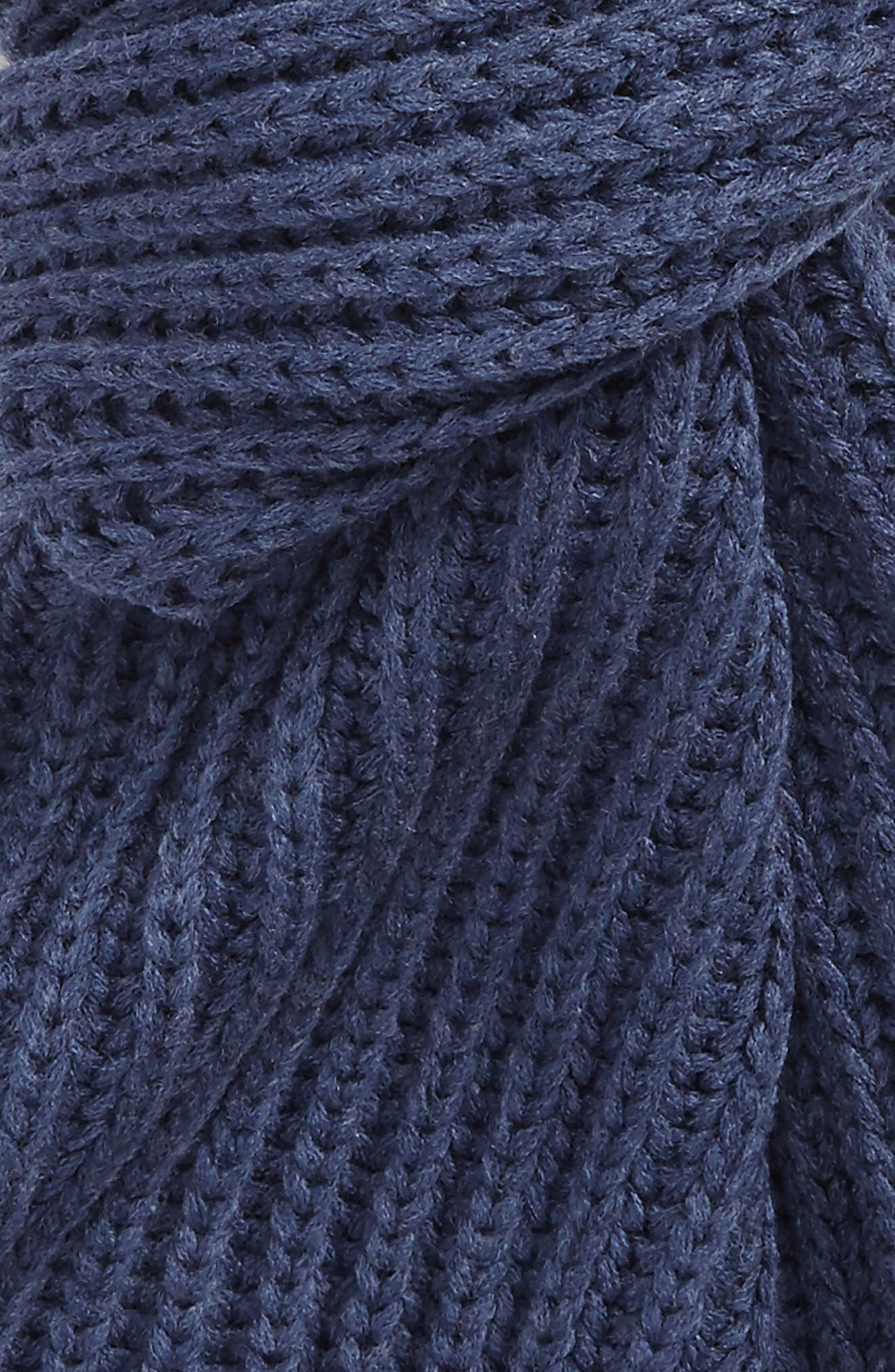 Chunky Rib Knit Scarf,                             Alternate thumbnail 3, color,                             Shale Blue Heather