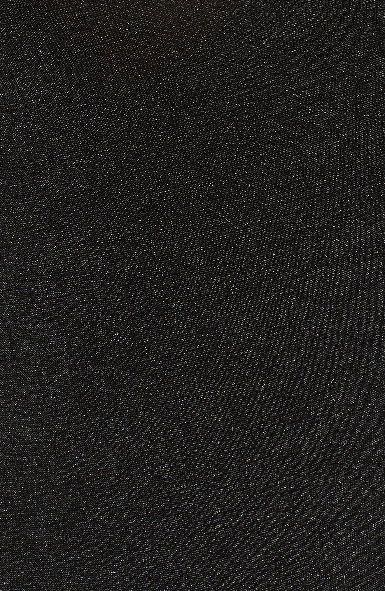Surplice Bodysuit,                             Alternate thumbnail 5, color,                             Black