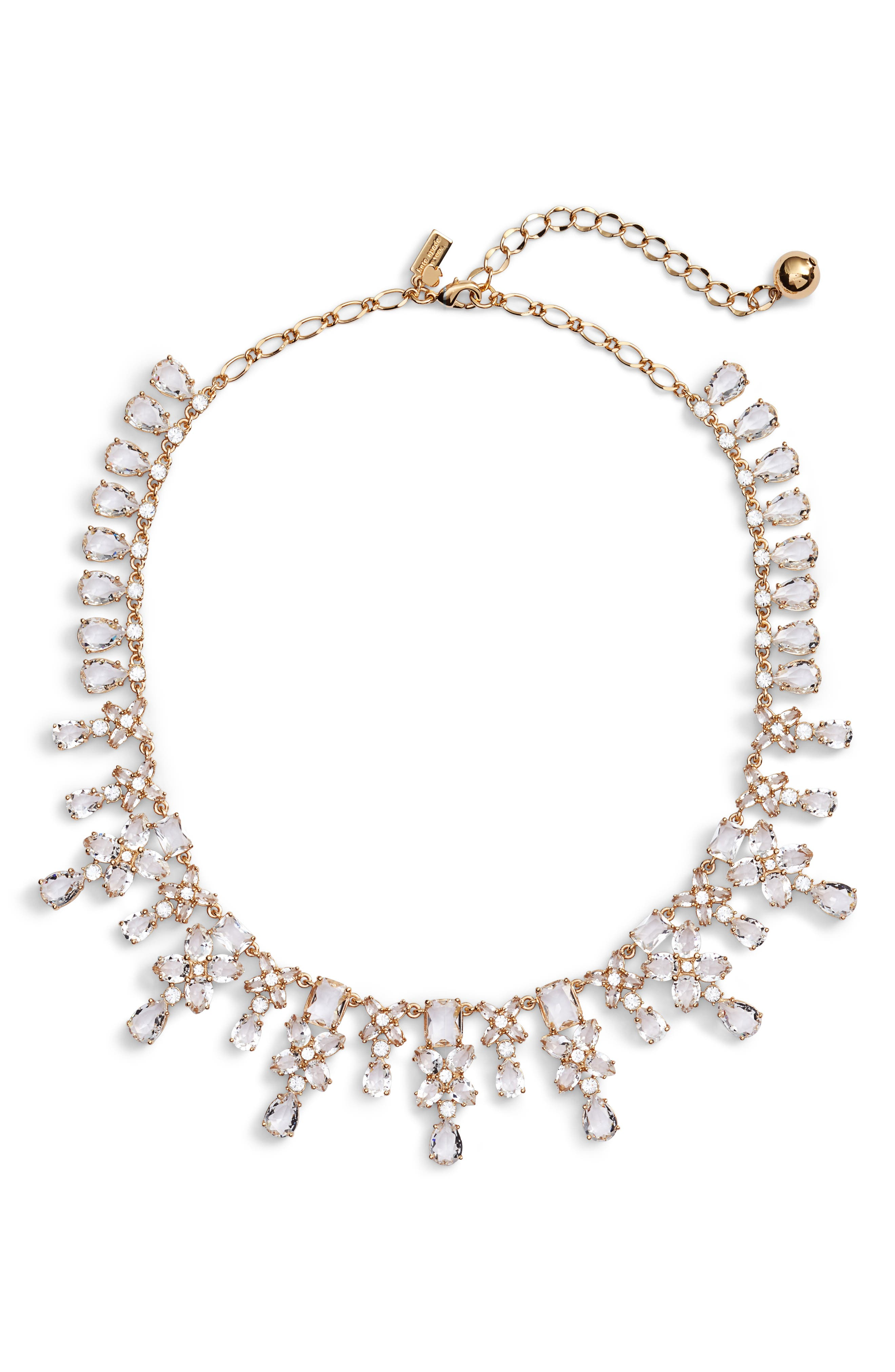 take a shine crystal collar necklace,                         Main,                         color, Gold