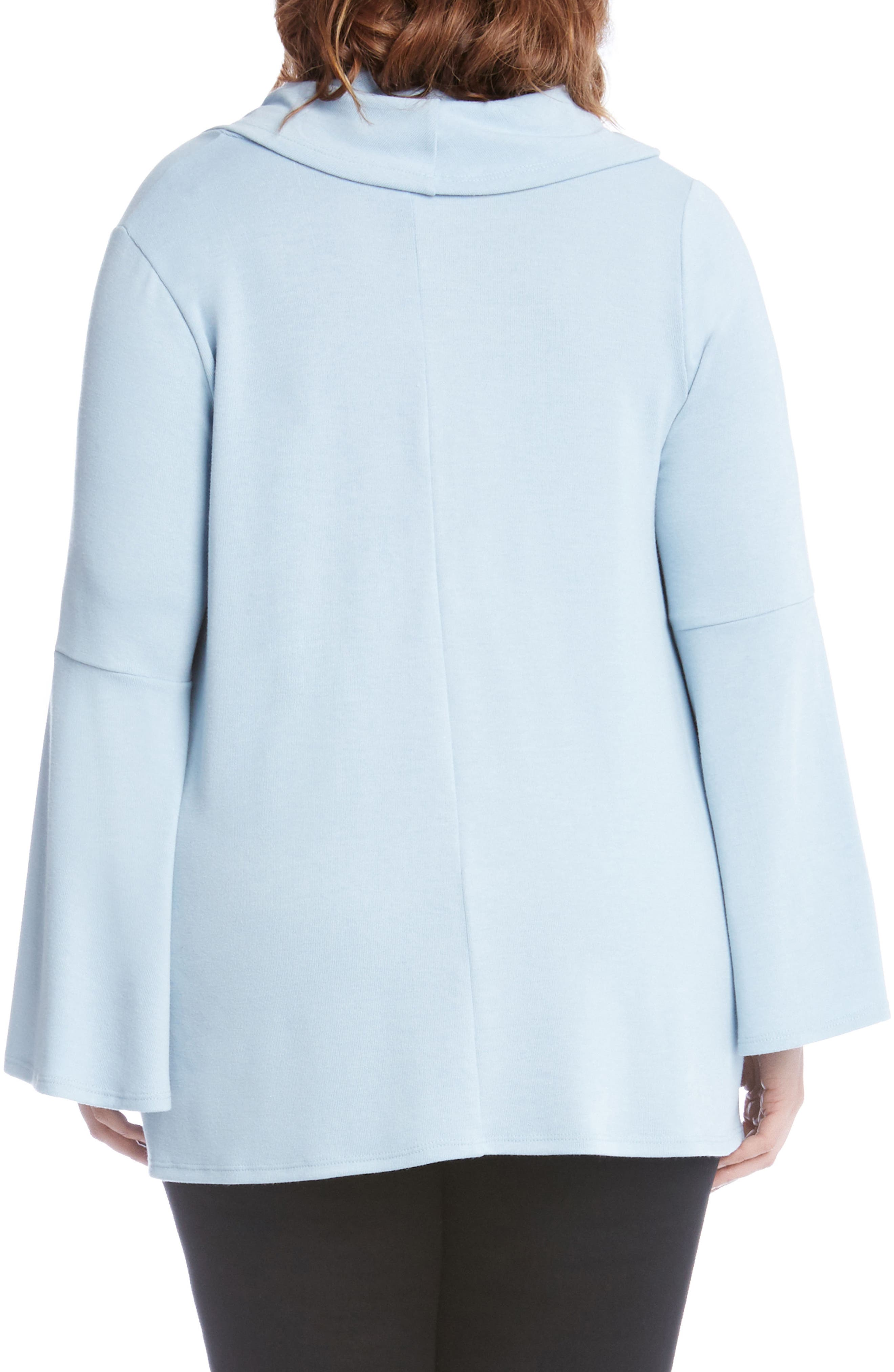Alternate Image 2  - Karen Kane Flare Sleeve Cowl Neck Sweater (Plus Size)