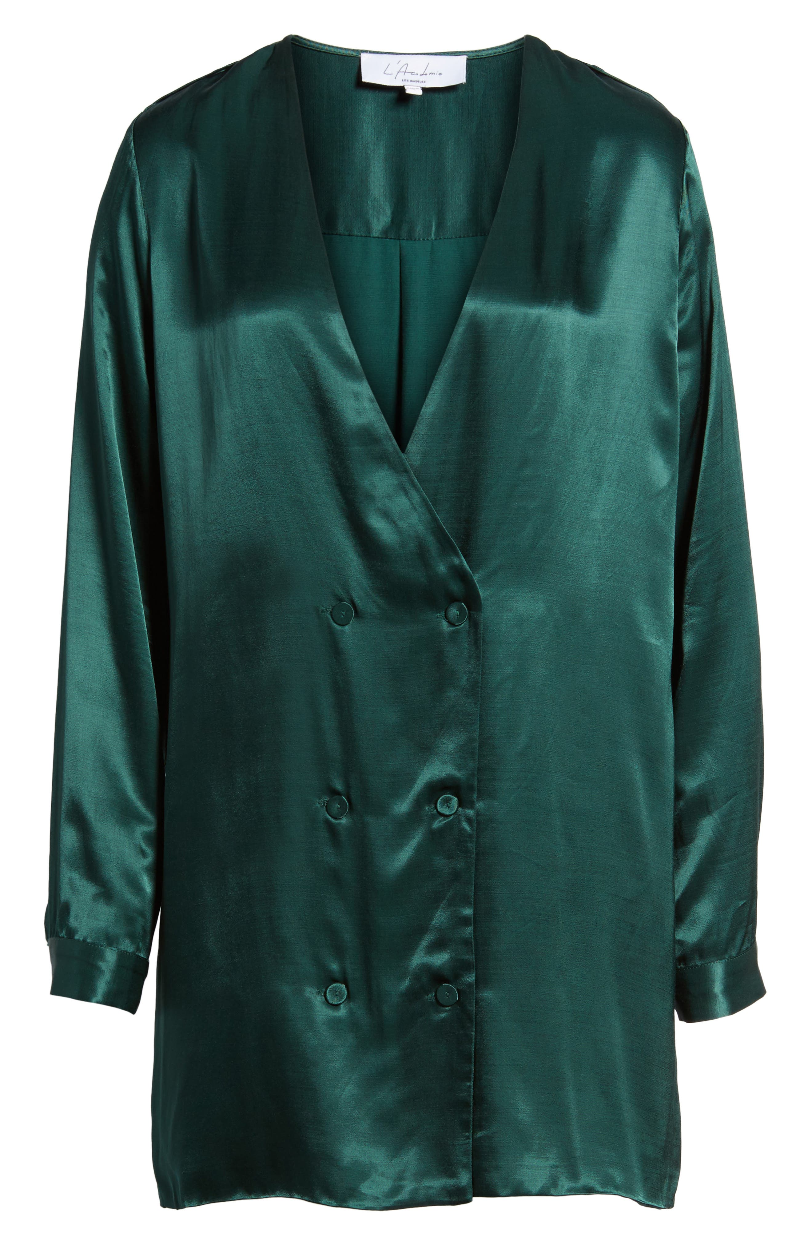 L'Academie The Cadet Shirtdress,                             Alternate thumbnail 6, color,                             Emerald