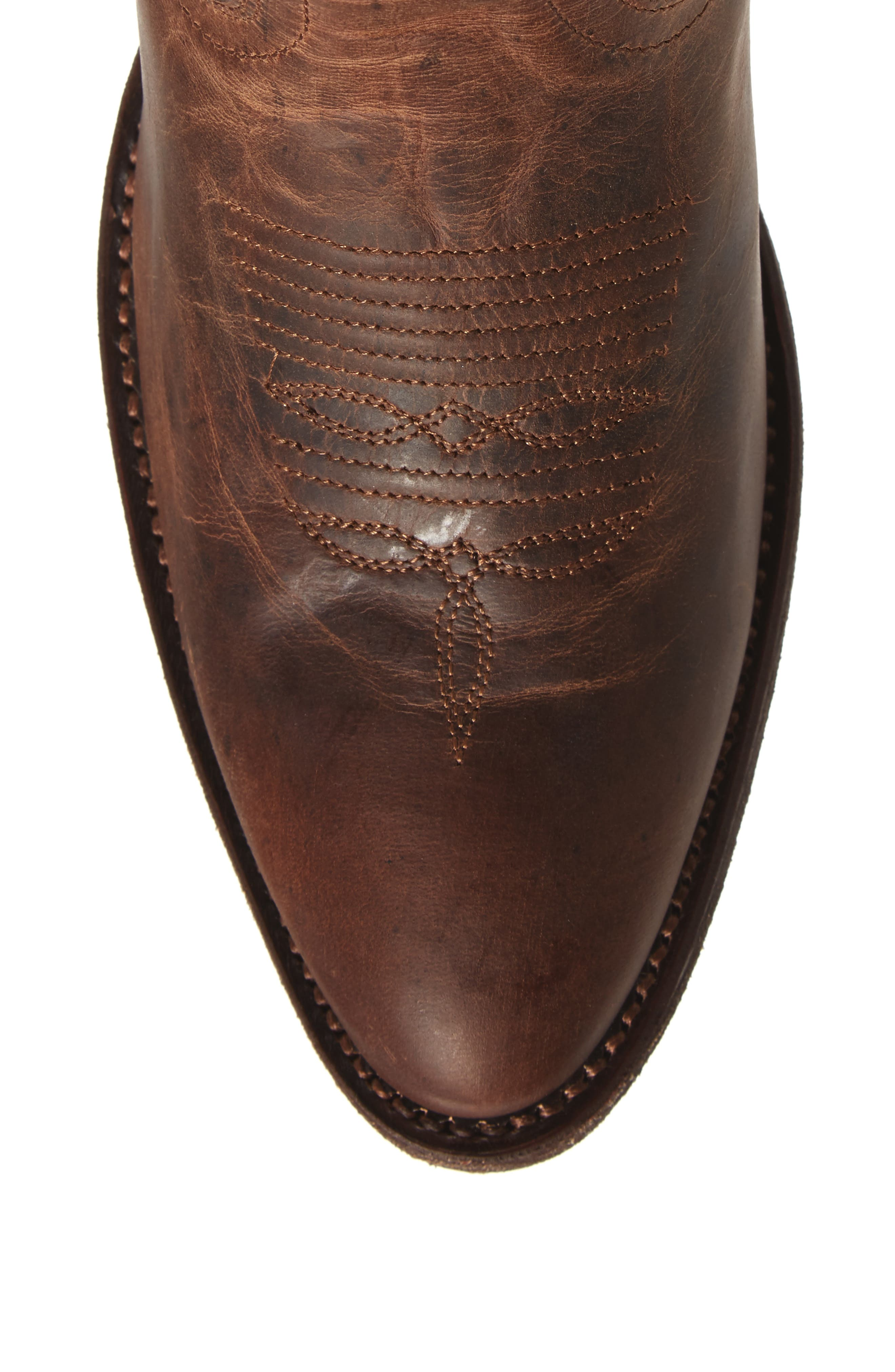 Shindig Western Boot,                             Alternate thumbnail 5, color,                             Weathered Tan Leather