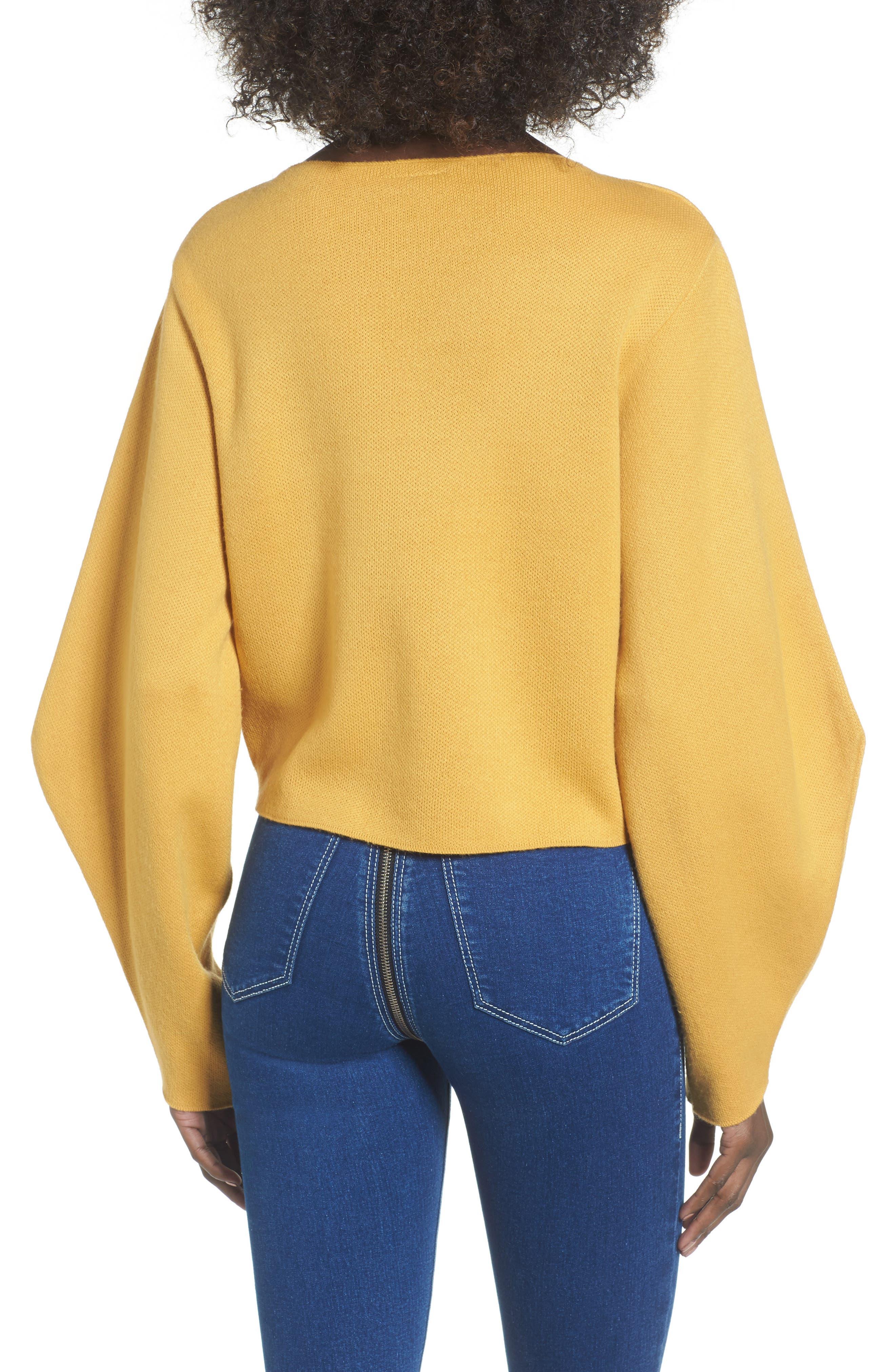 Alternate Image 3  - Topshop Balloon Sleeve Sweater