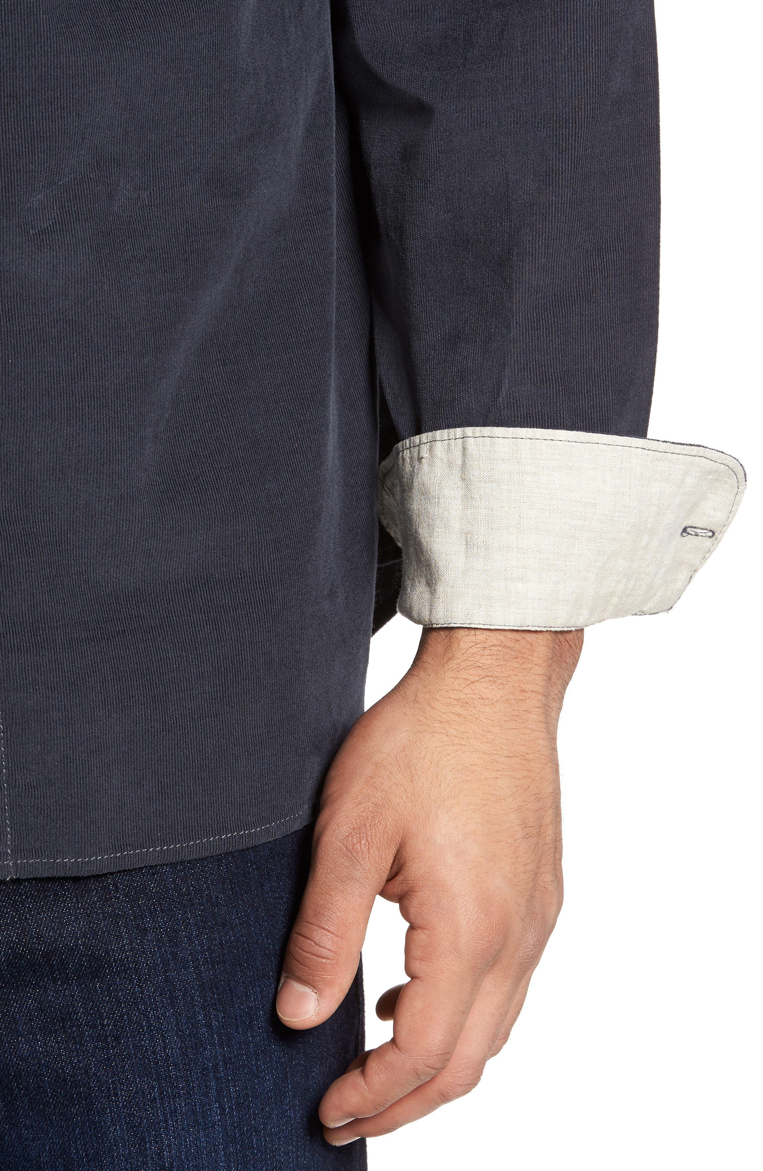 Alternate Image 4  - Tommy Bahama Harrison Cord Standard Fit Shirt