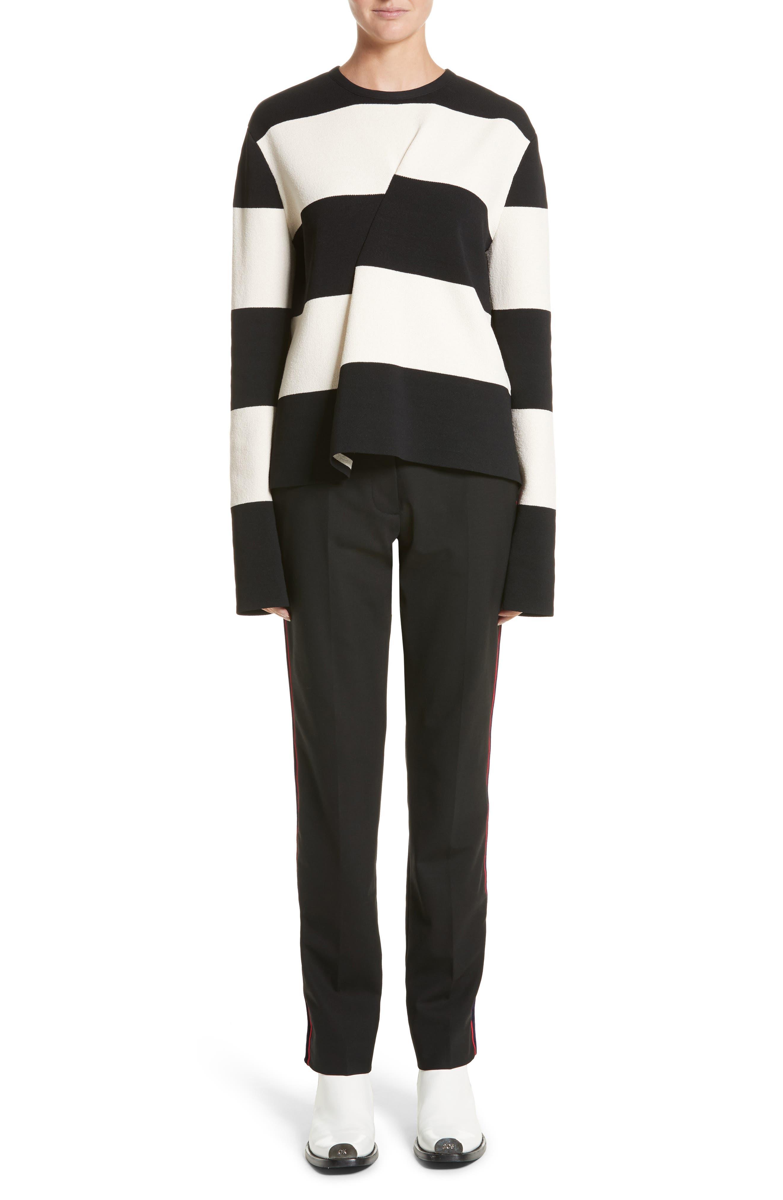 Alternate Image 7  - CALVIN KLEIN 205W39NYC Velvet Stripe Stretch Wool Pants