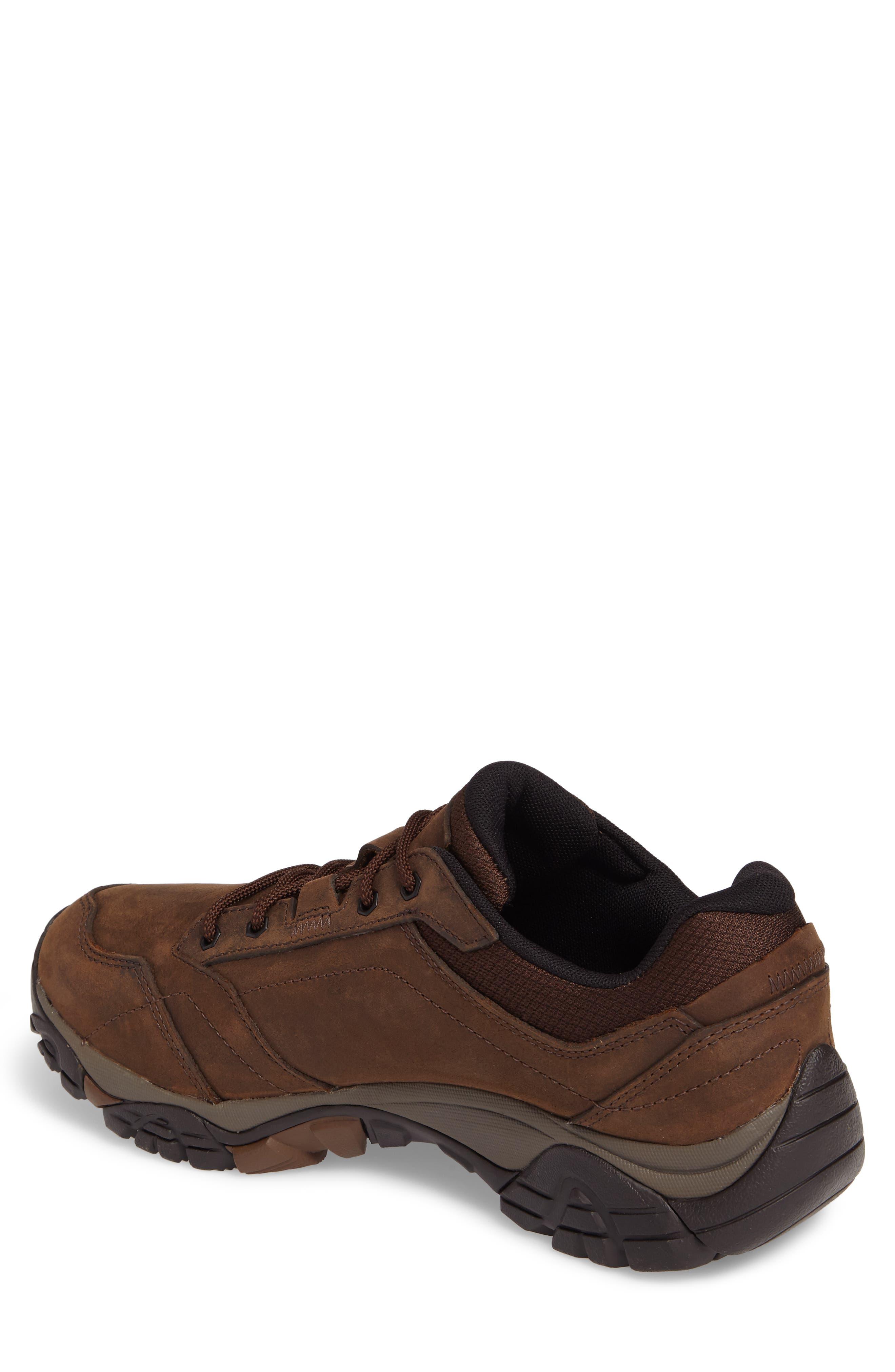 Moab Adventure Hiking Shoe,                             Alternate thumbnail 2, color,                             Dark Earth Nubuck Leather