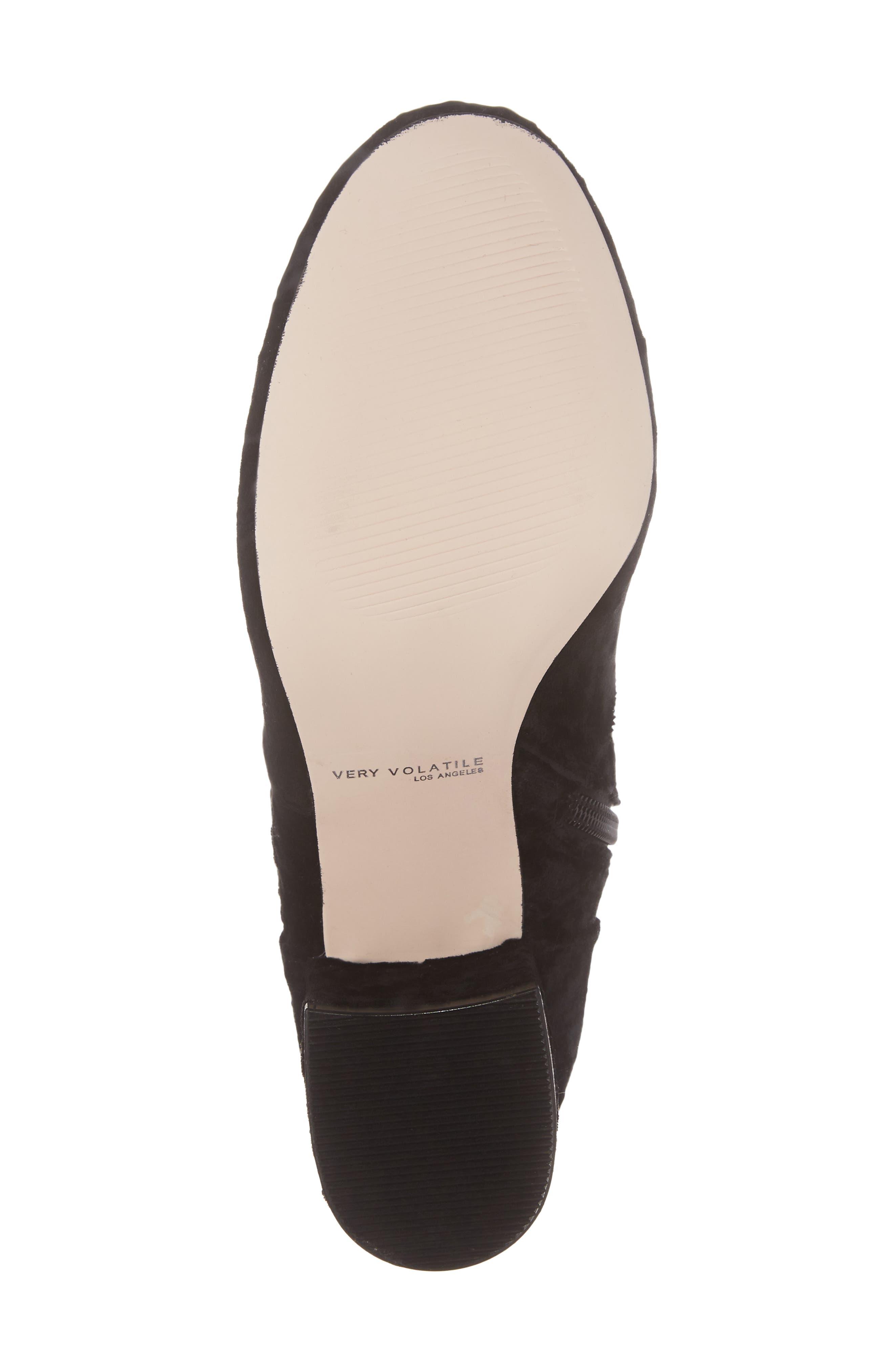 Eclipse Velvet Sock Bootie,                             Alternate thumbnail 6, color,                             Black