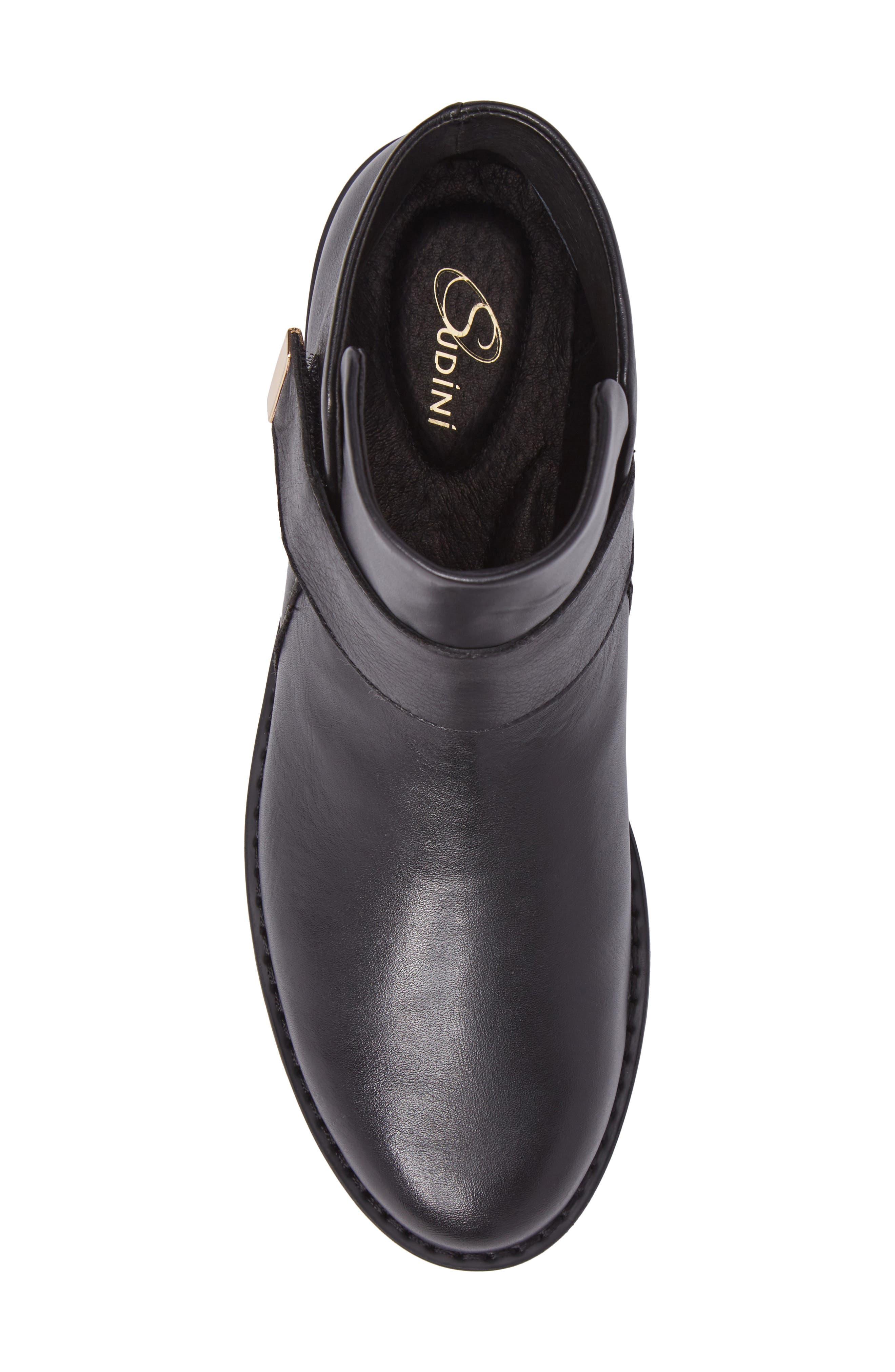 Kris Boot,                             Alternate thumbnail 5, color,                             Black Leather