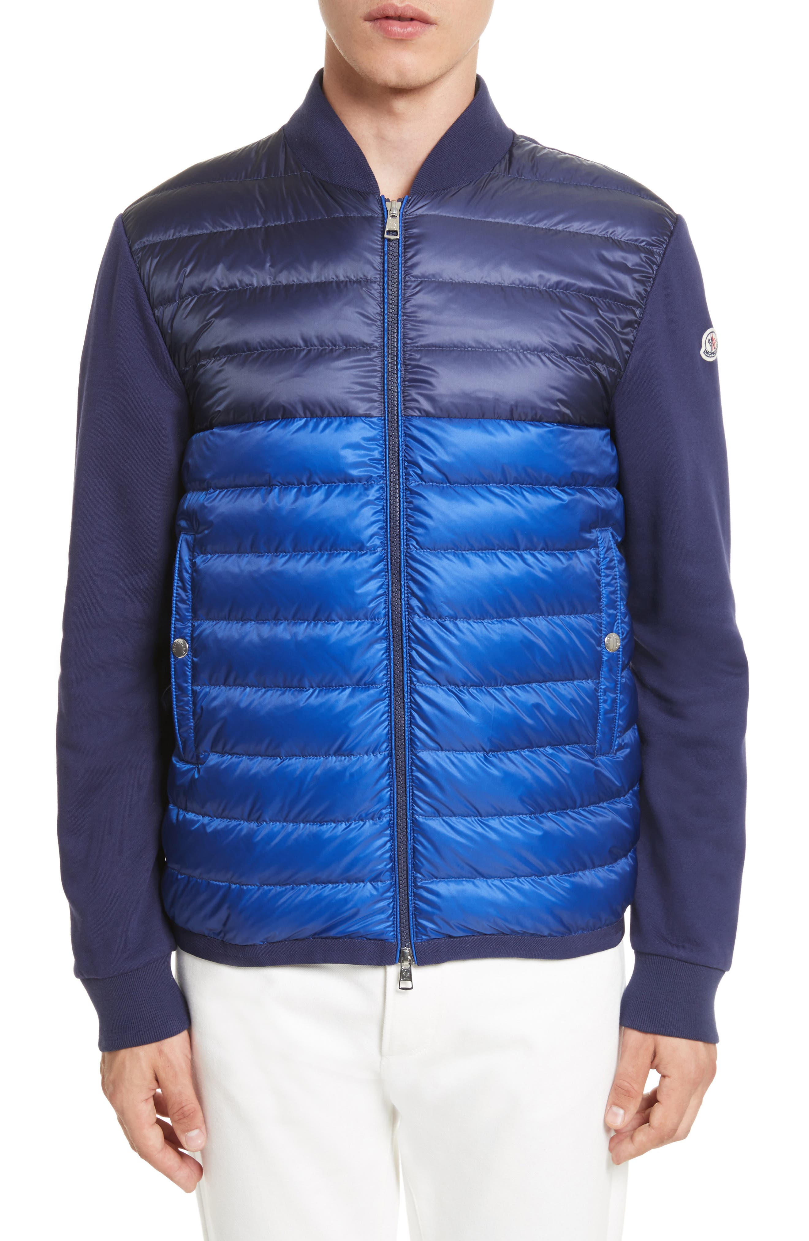 Moncler Maglia Mixed Media Down Knit Jacket