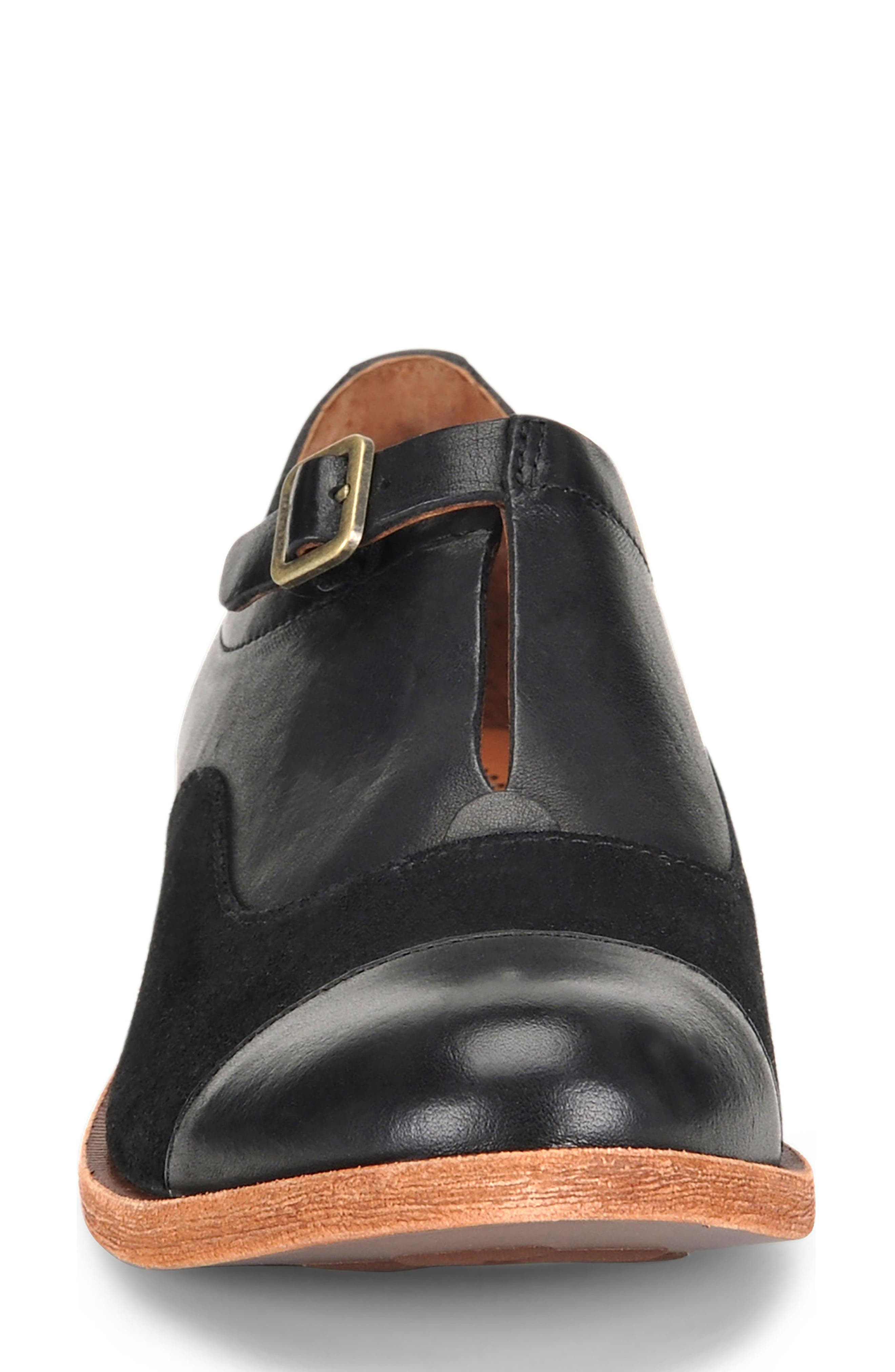 'Niseda' Oxford,                             Alternate thumbnail 7, color,                             Black Leather Suede Combo
