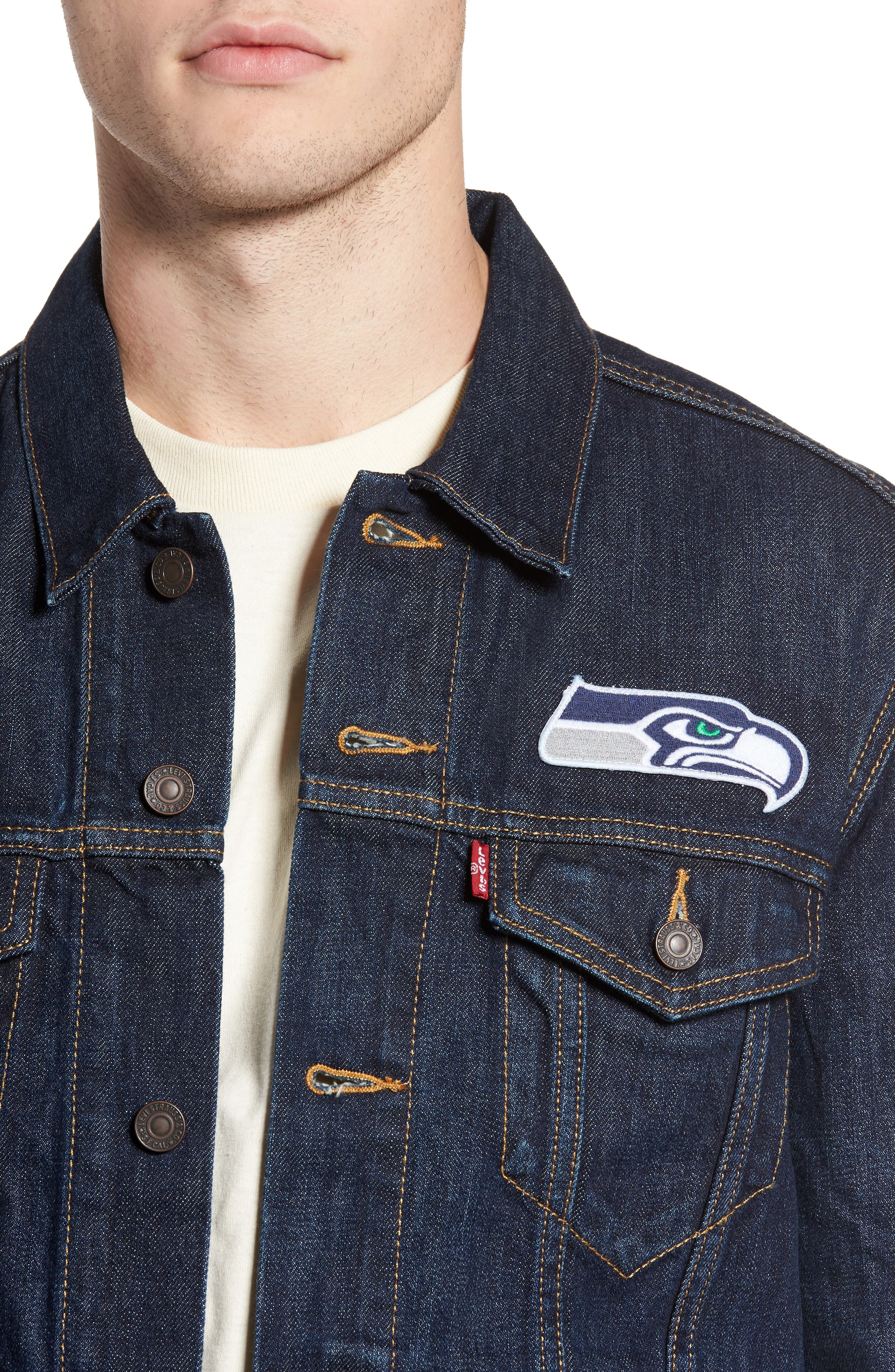 Alternate Image 4  - Levi's® Seattle Seahawks Denim Trucker Jacket