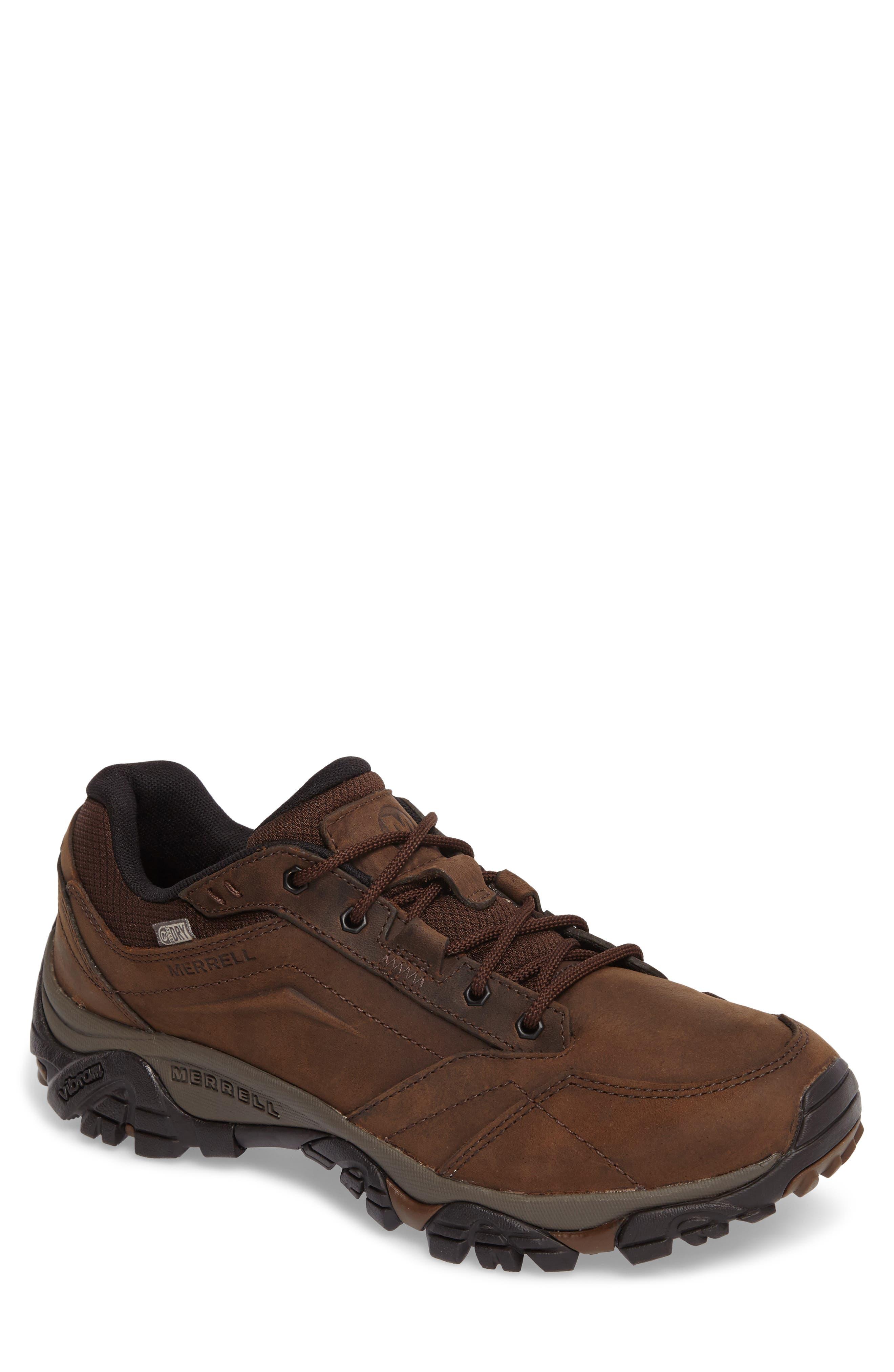Moab Adventure Hiking Shoe,                         Main,                         color, Dark Earth Nubuck Leather