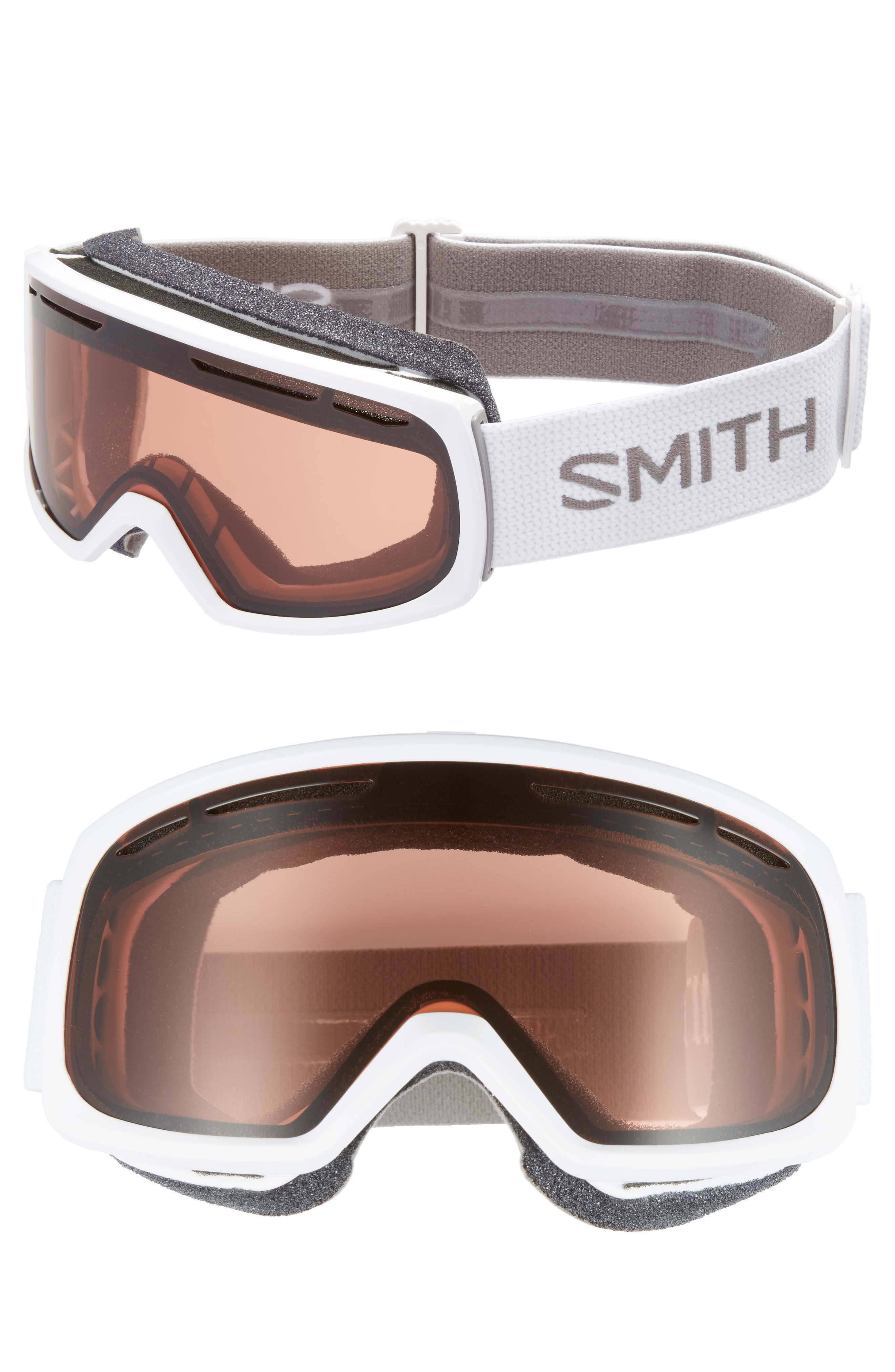 Drift Snow Goggles,                         Main,                         color, White/ Mirror