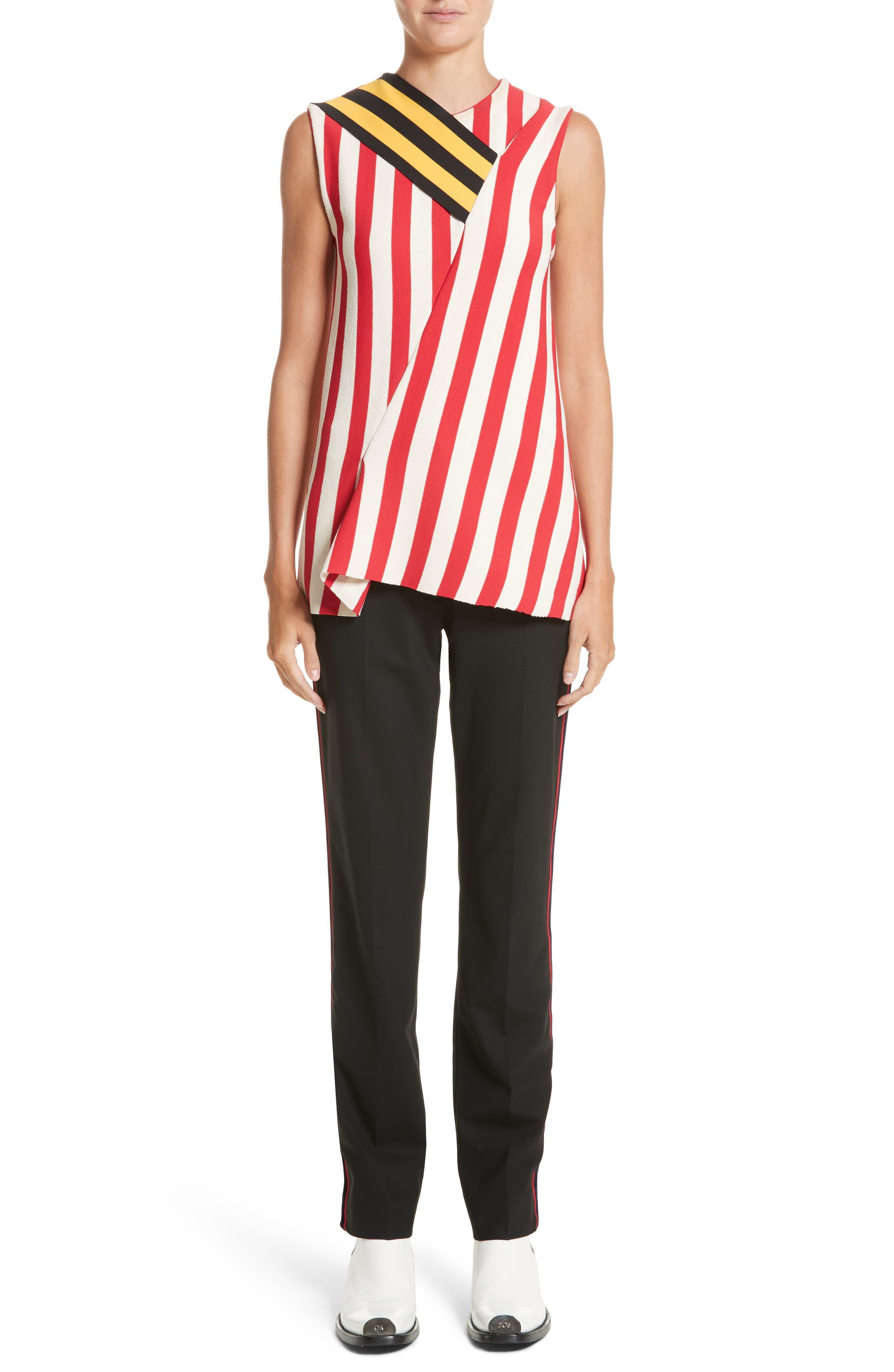 Alternate Image 10  - CALVIN KLEIN 205W39NYC Velvet Stripe Stretch Wool Pants