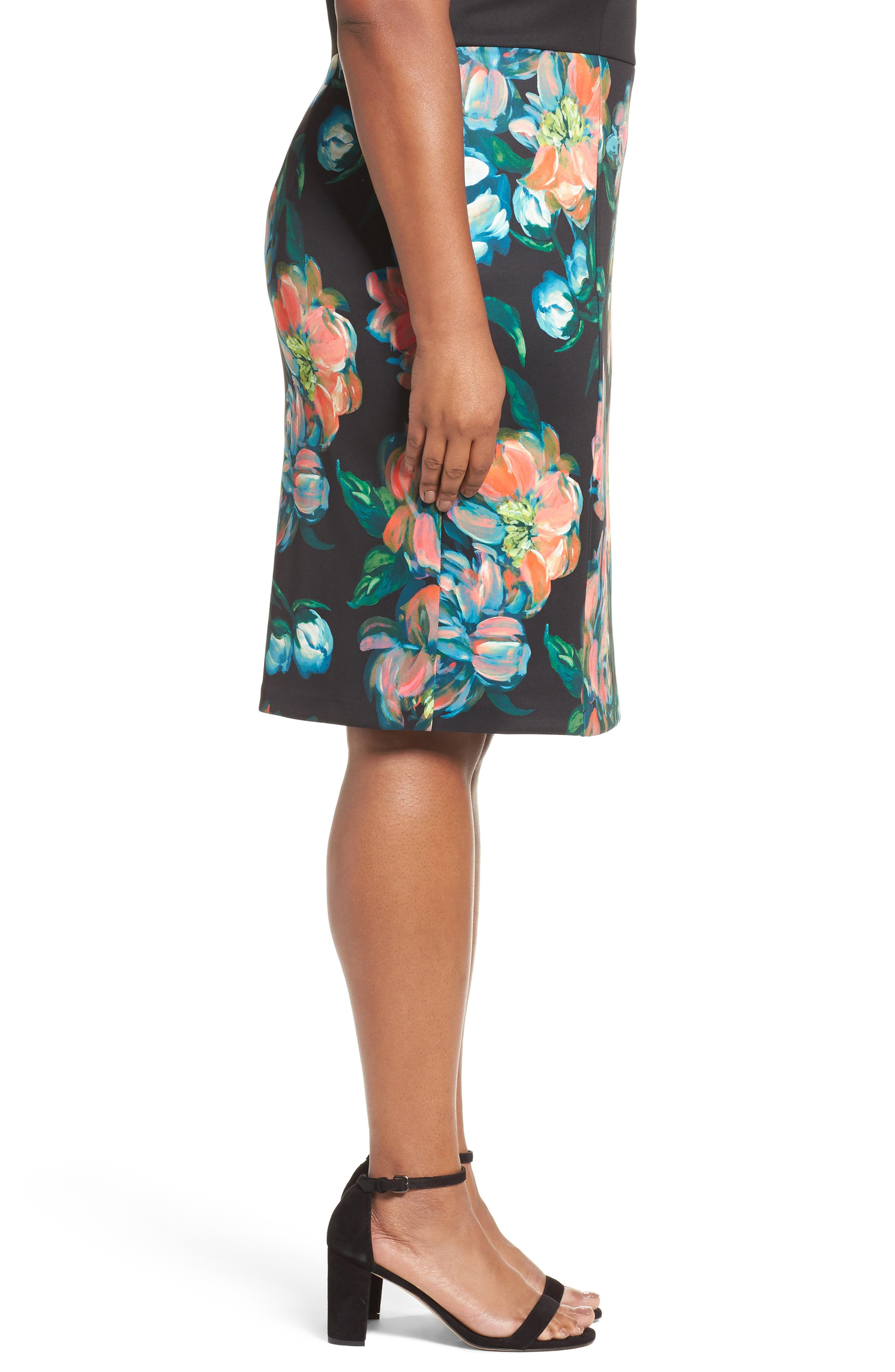 Alternate Image 3  - Adrianna Papell Floral Print Sheath Dress (Plus Size)