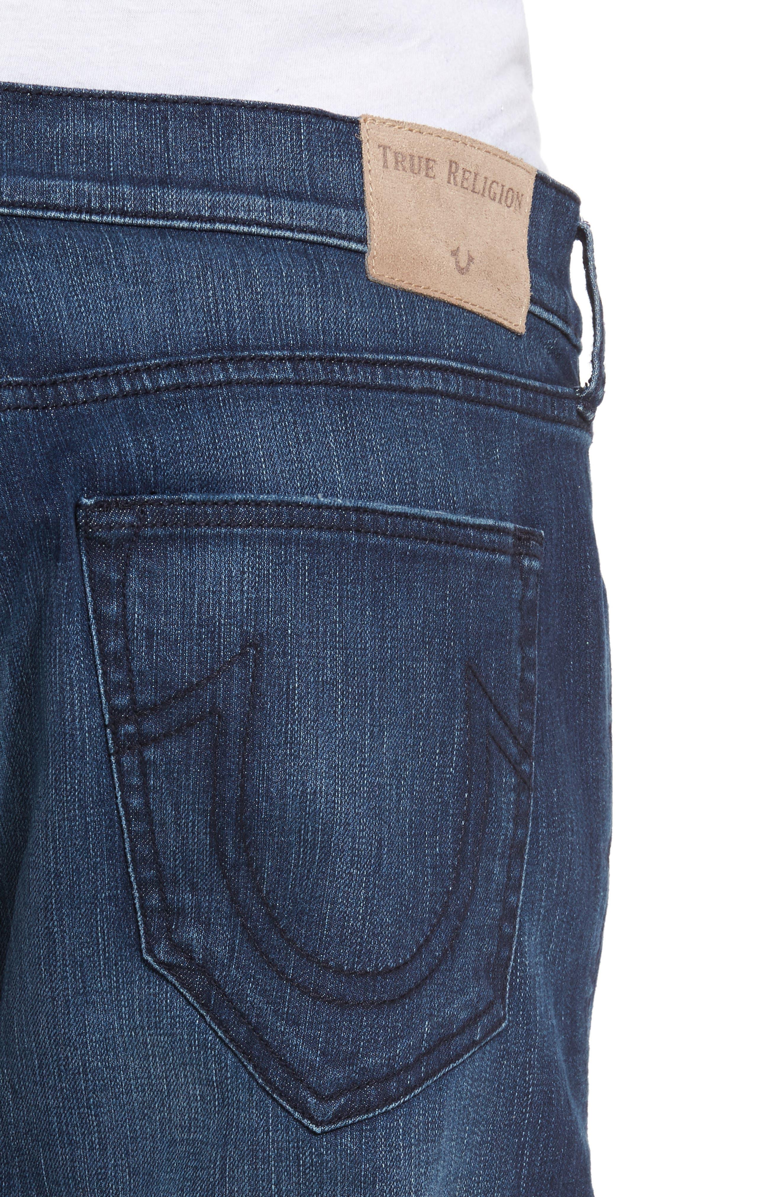 Alternate Image 4  - True Religion Brand Jeans Rocco Biker Skinny Fit Jeans (Rebel Race)