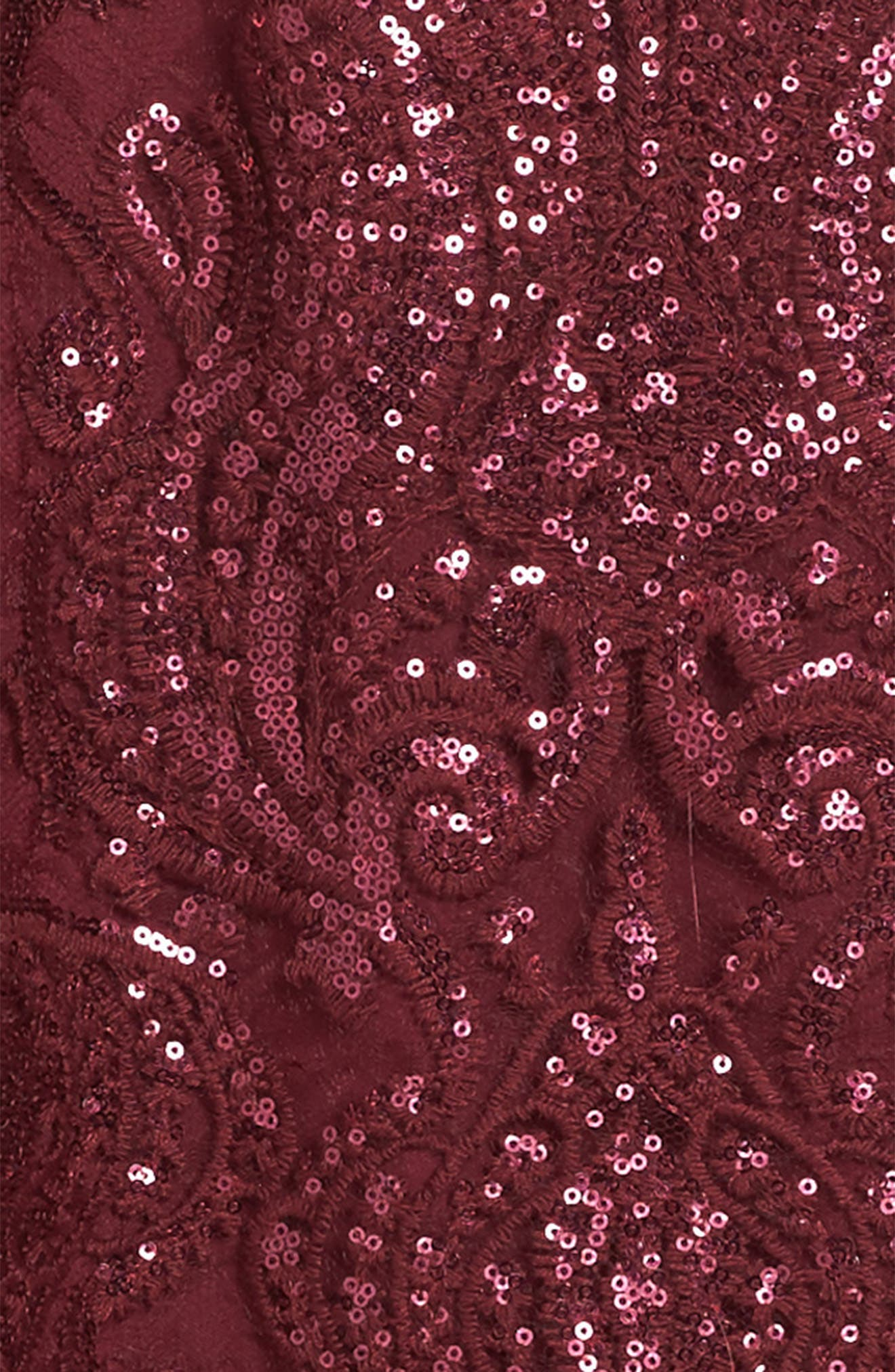 Alternate Image 3  - Trixxi Scalloped Sequin Embellished Shift Dress (Big Girls)
