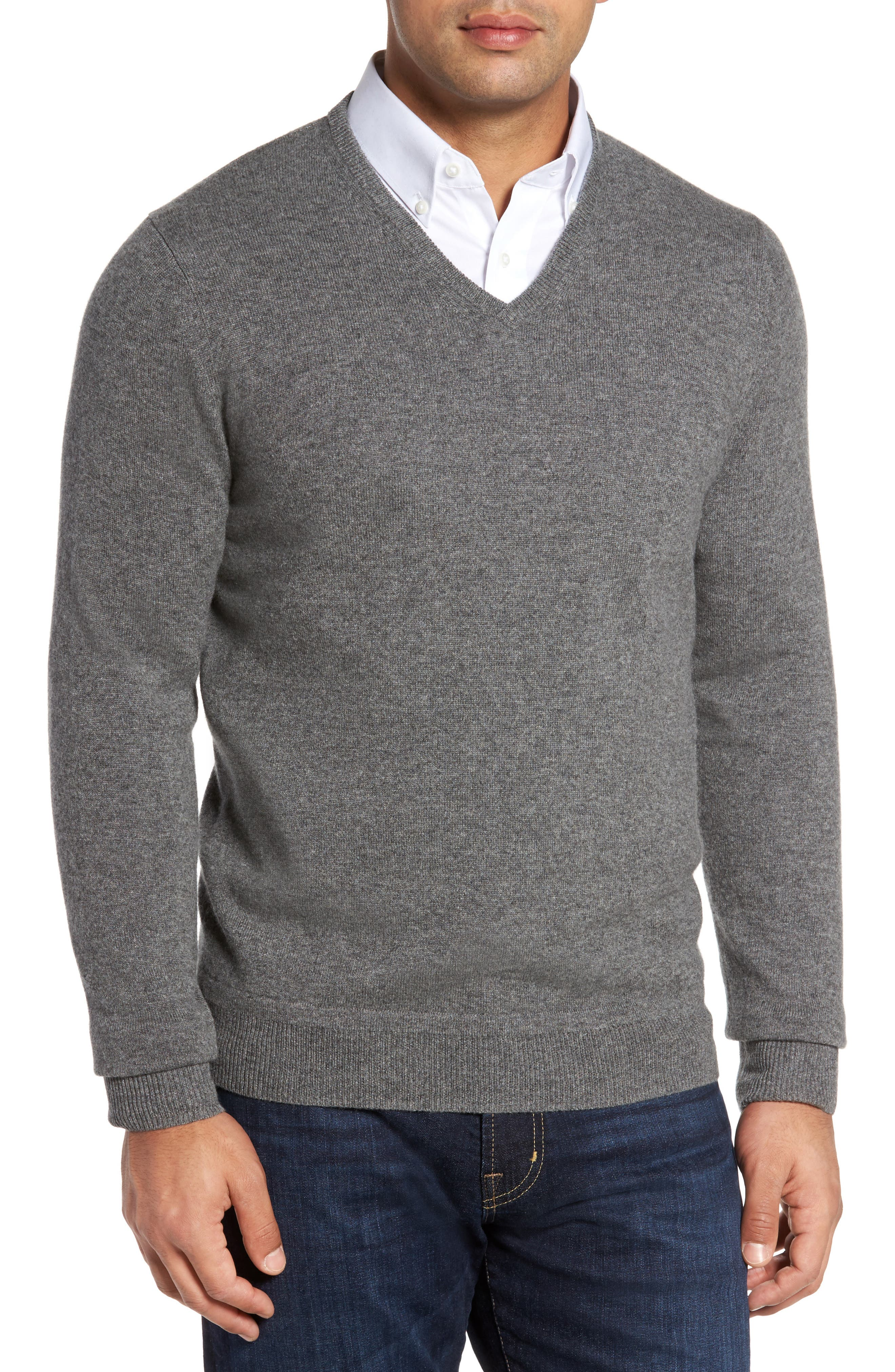 Main Image - Monte Rosso V-Neck Cashmere Sweater