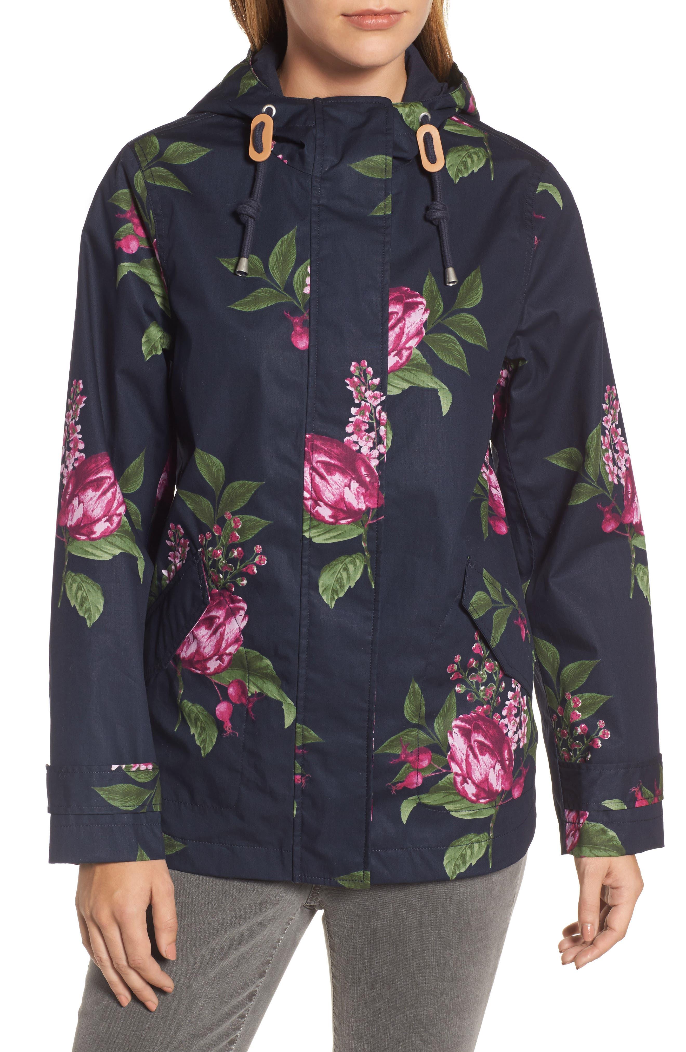 Alternate Image 5  - Joules Right as Rain Print Waterproof Hooded Jacket
