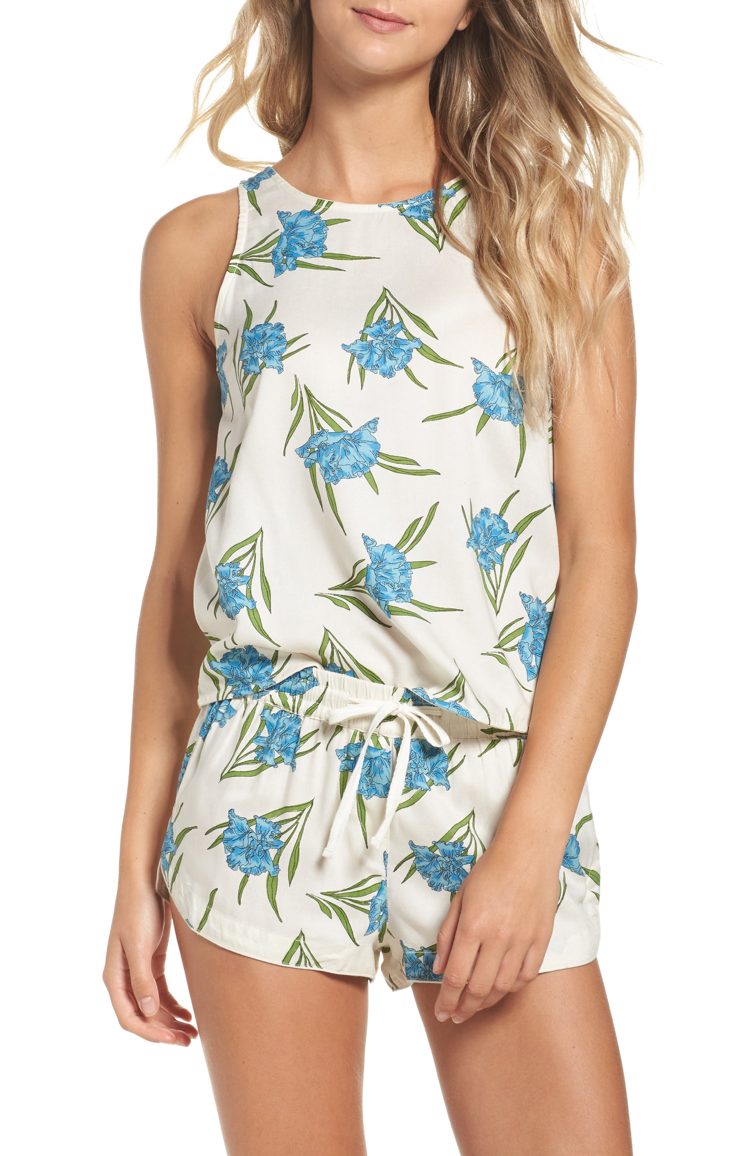 Topshop Botanical Short Pajamas