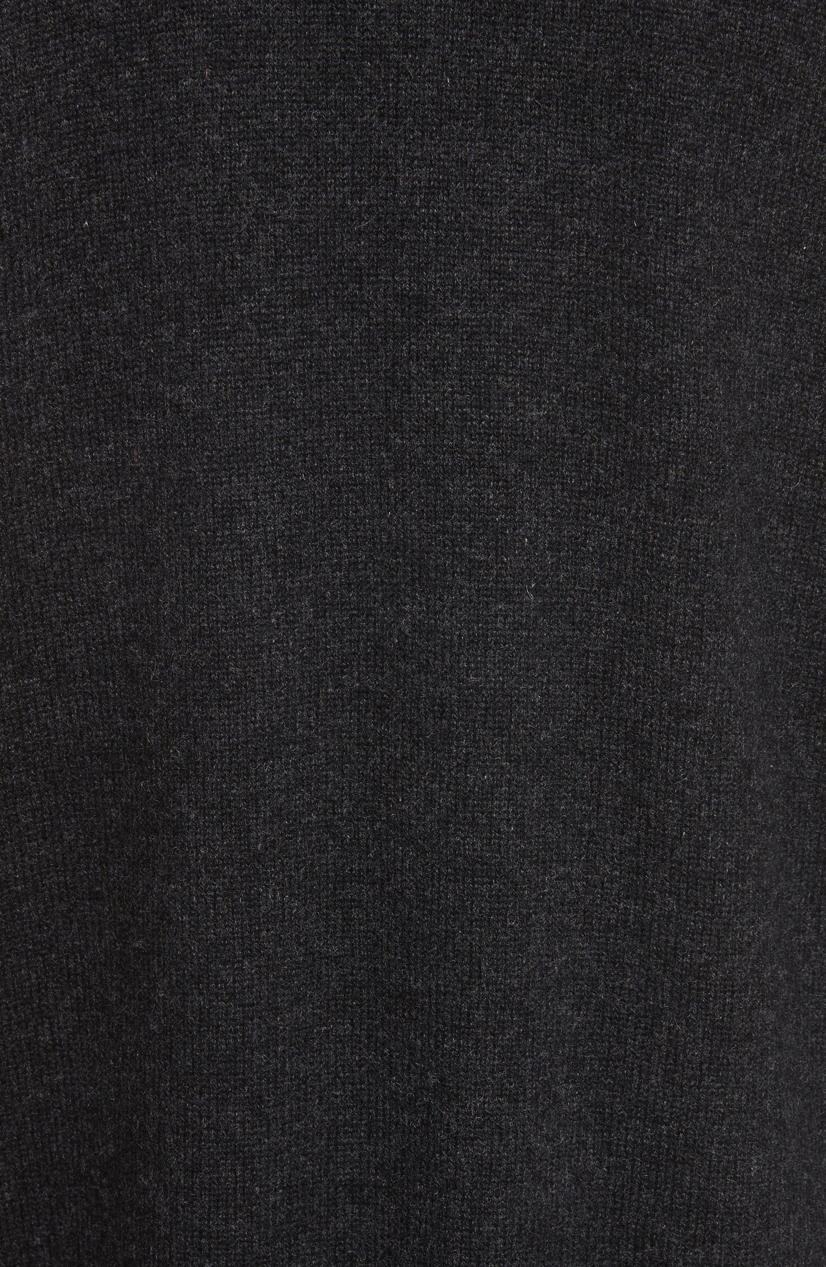 Snap Front Cashmere Cardigan,                             Alternate thumbnail 5, color,                             H Carbon