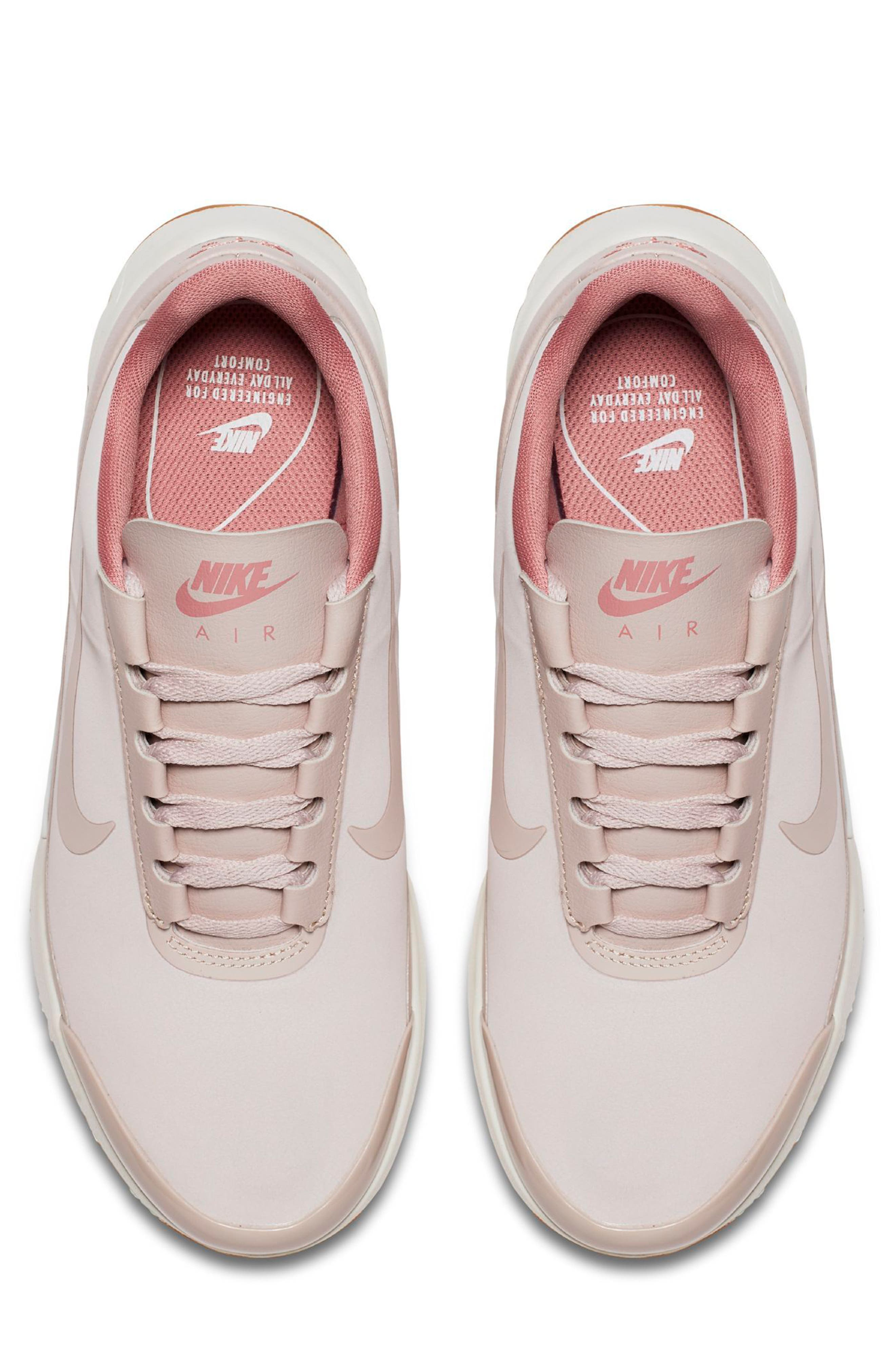 Air Max Jewell SE Sneaker,                             Alternate thumbnail 4, color,                             Red/ Red Stardust/ Sail