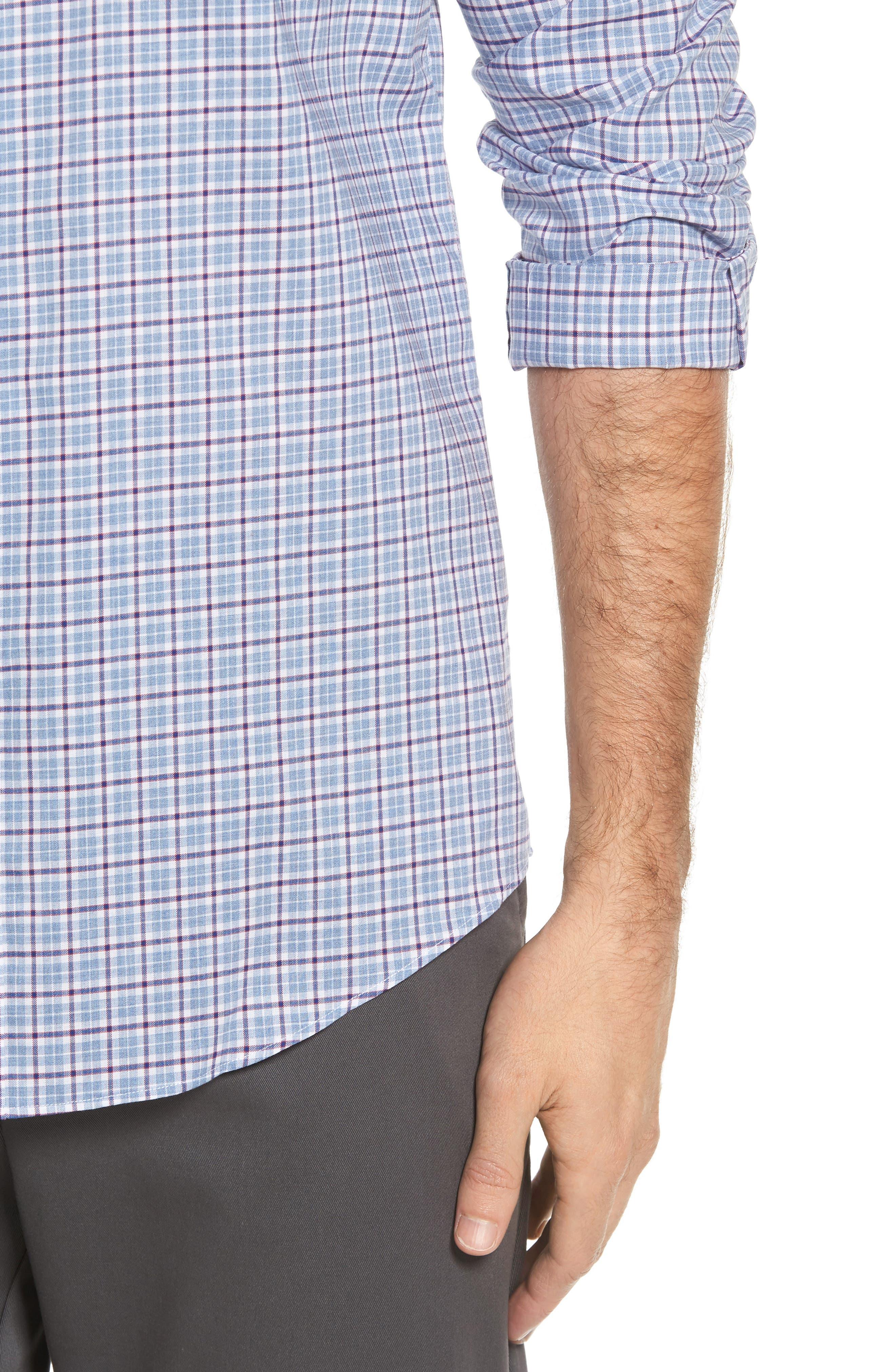 Alternate Image 4  - Nordstrom Men's Shop Non-Iron Regular Fit Check Sport Shirt