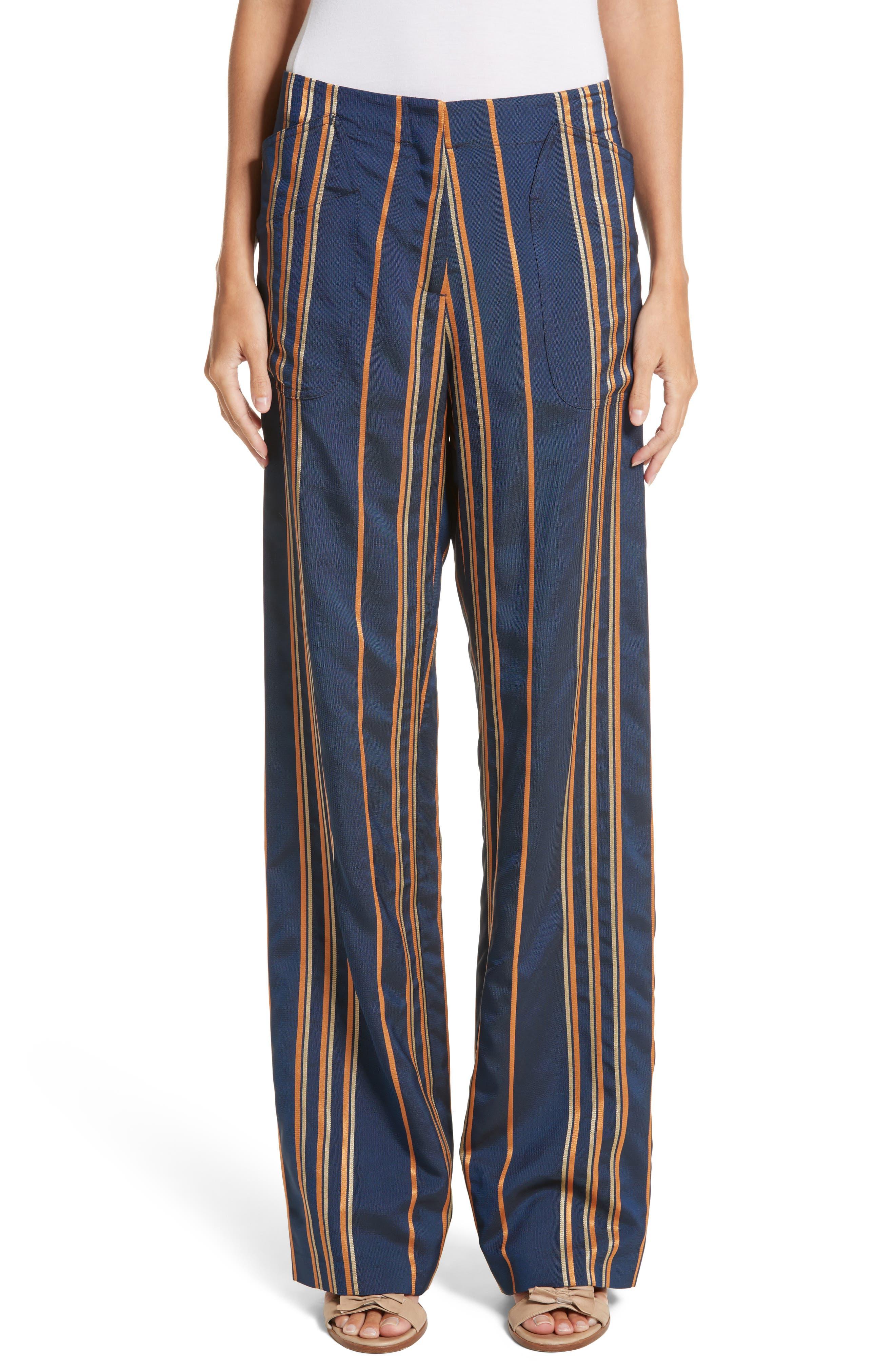 Stripe Pants,                             Main thumbnail 1, color,                             Mykonos/Papaya