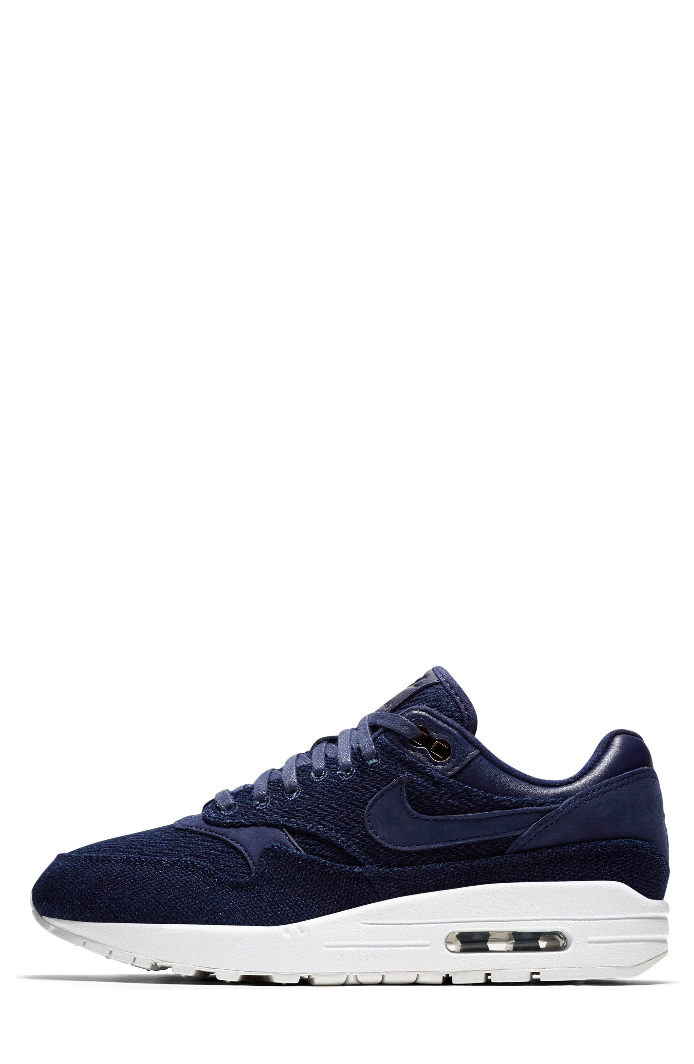 Air Max 1 Lux Sneaker,                             Alternate thumbnail 3, color,                             Binary Blue/ White/ Stout