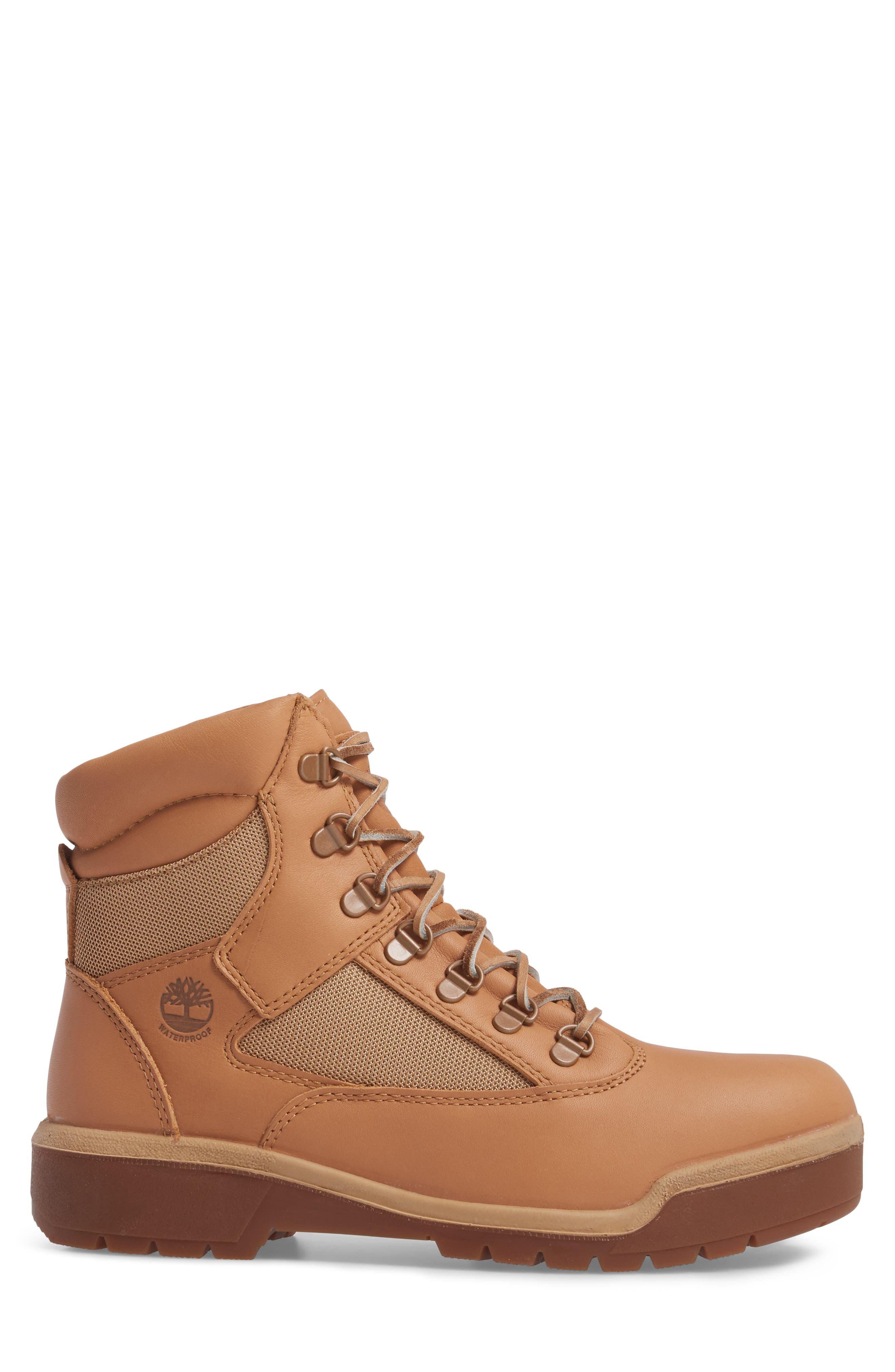 Waterproof Boot,                             Alternate thumbnail 3, color,                             Natural Hoween/ Latigo Leather
