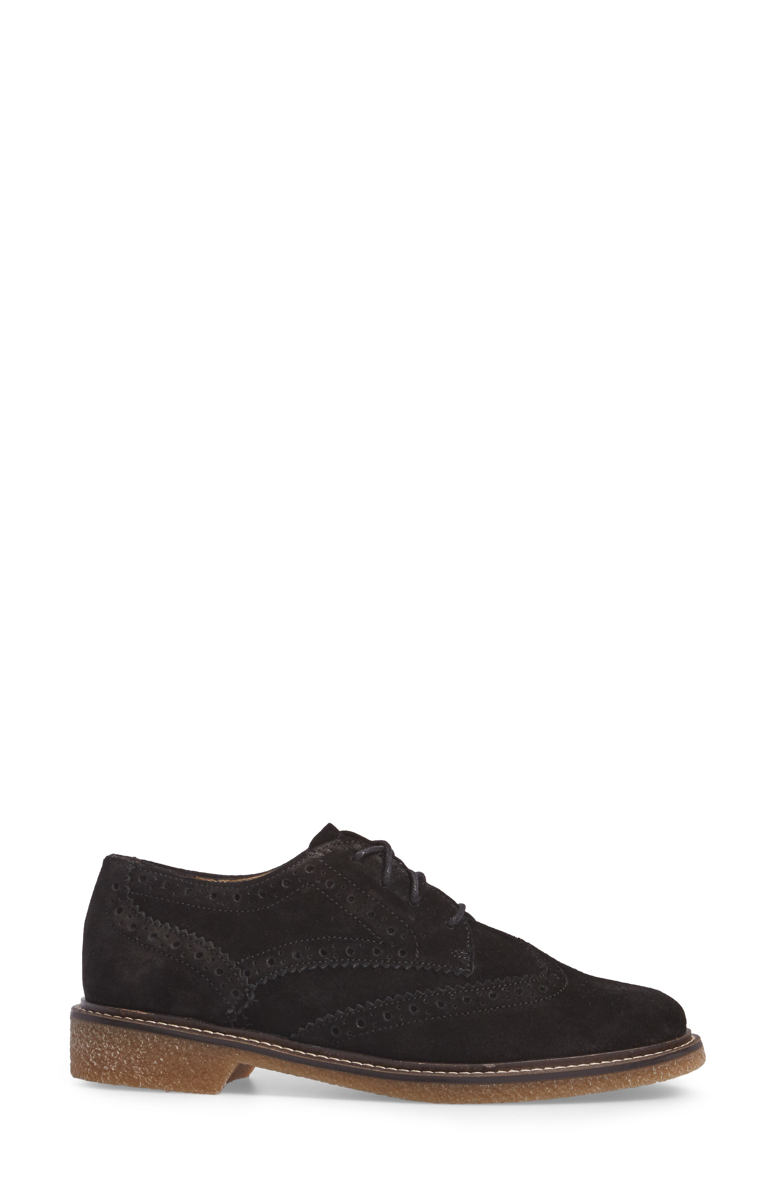Kathleen Oxford,                             Alternate thumbnail 3, color,                             Black Suede