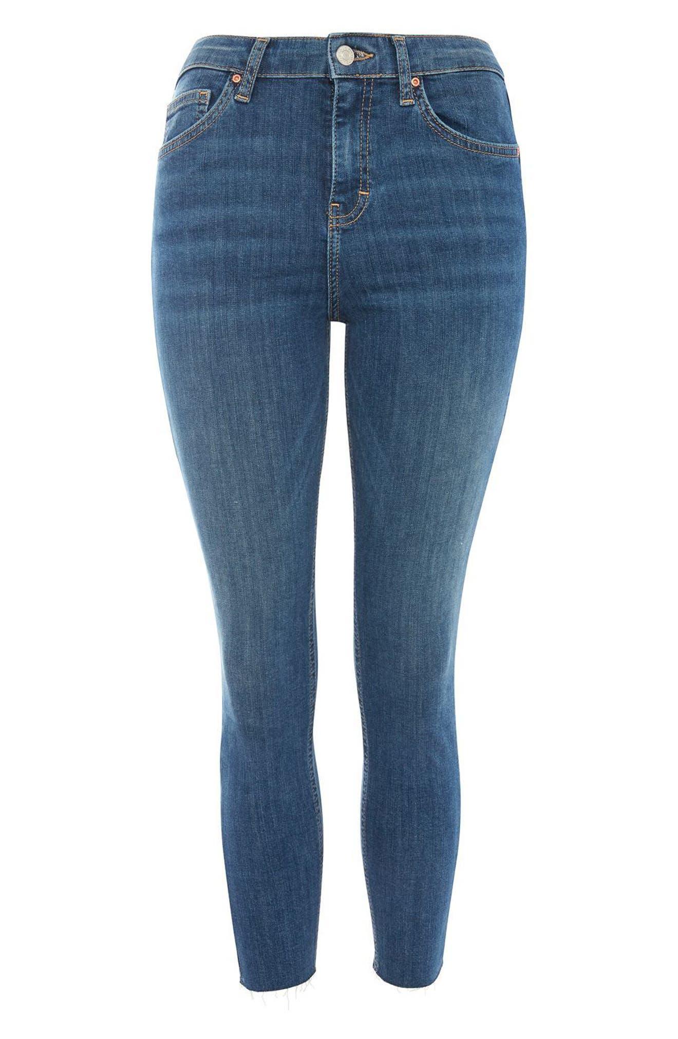 Alternate Image 4  - Topshop Jamie Raw Hem Crop Skinny Jeans (Petite)