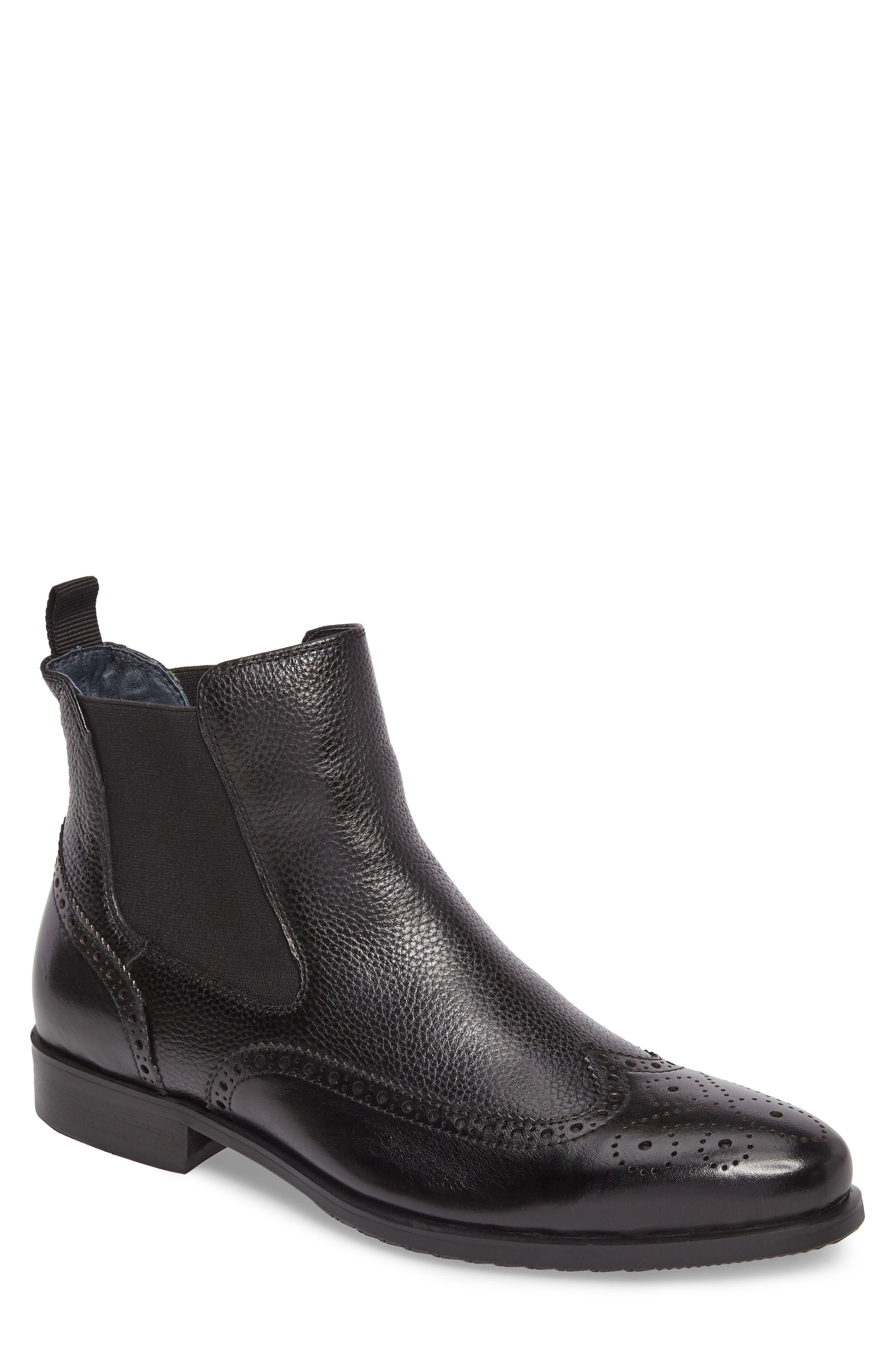 Hamel Chelsea Boot,                         Main,                         color, Black Leather