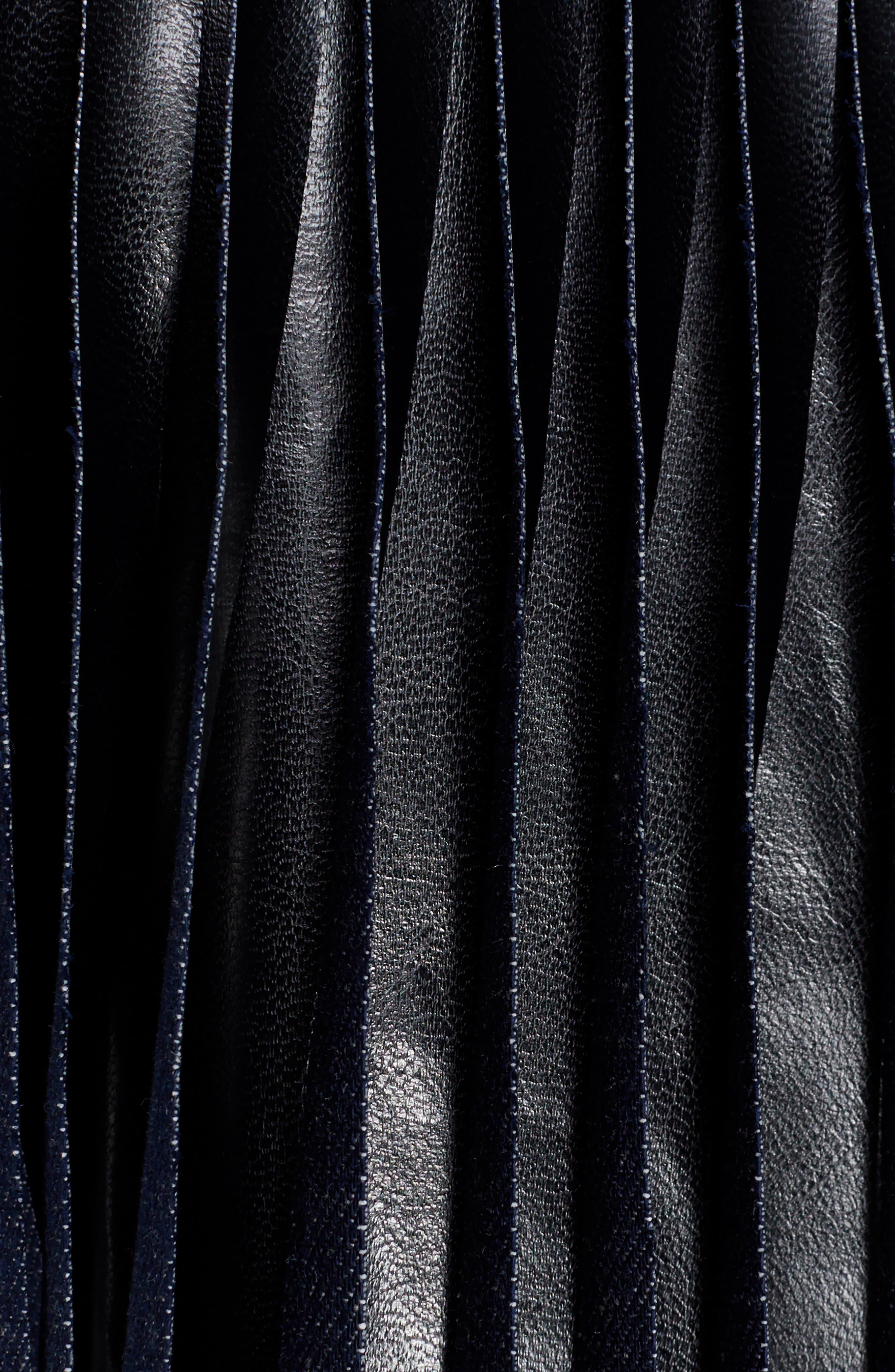 Alternate Image 5  - Toga Fringed Coated Denim Jacket
