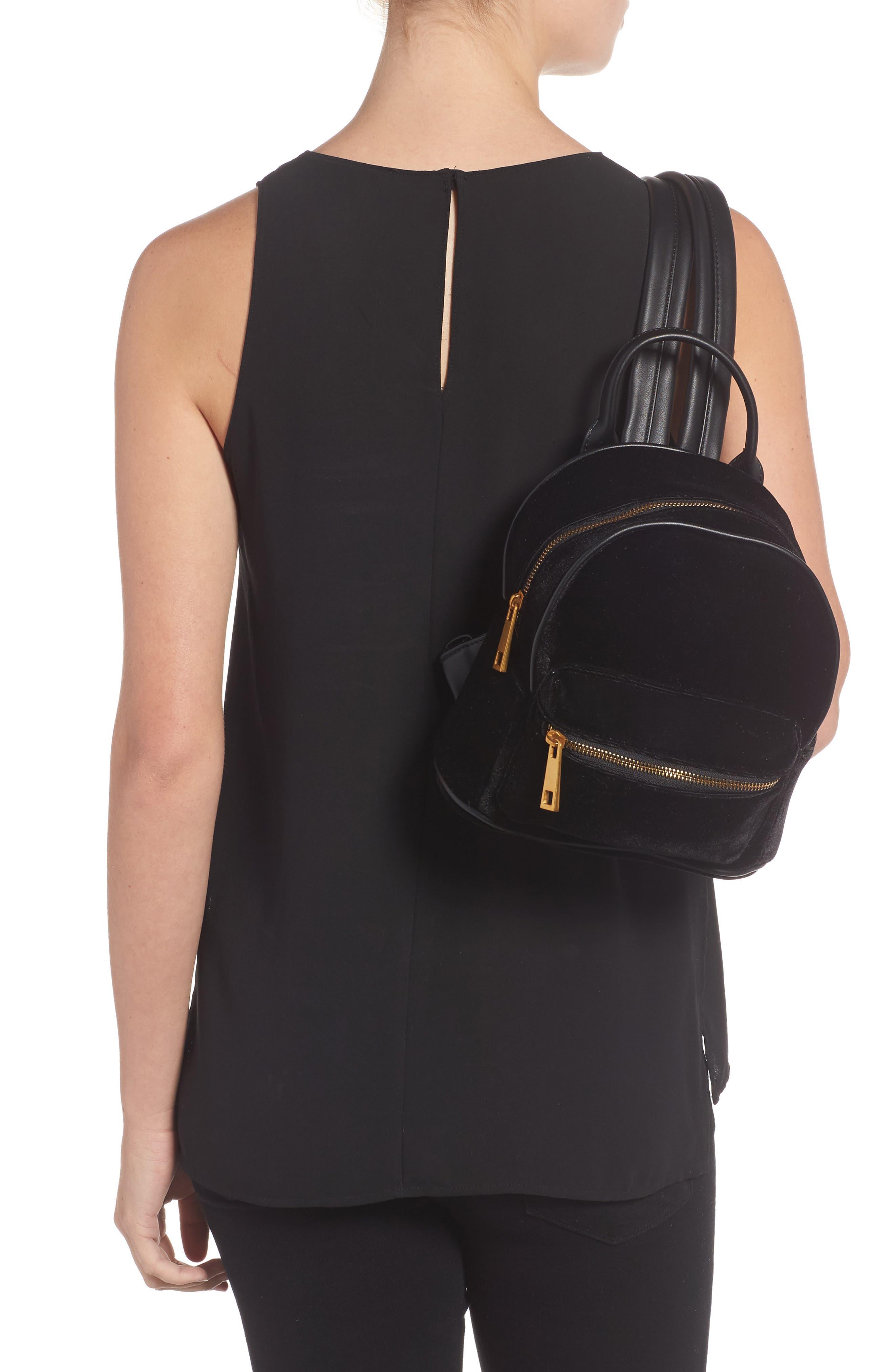 Velvet Backpack,                             Alternate thumbnail 2, color,                             Black