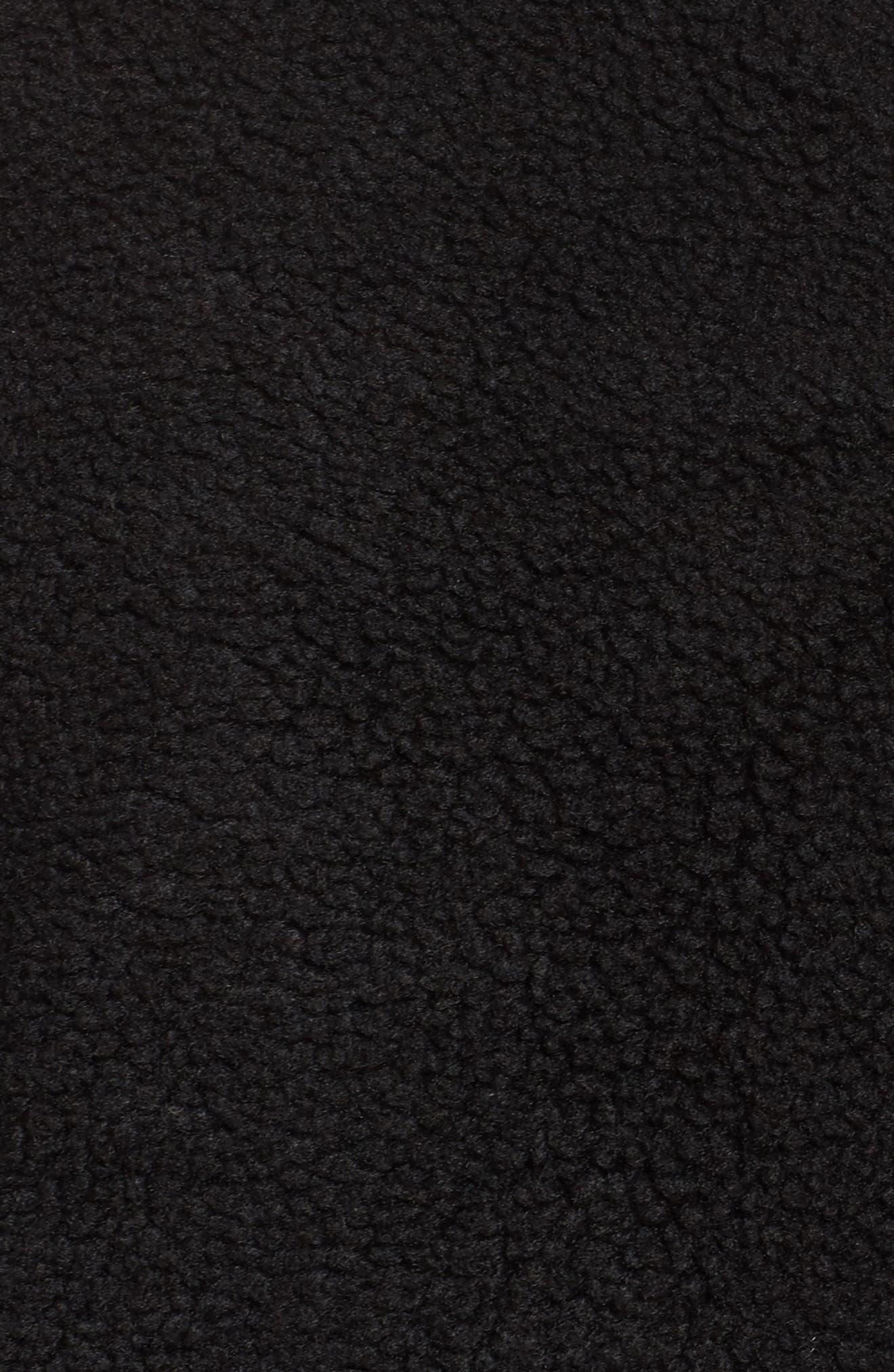 NikeLab Essential Half Zip Fleece Hoodie,                             Alternate thumbnail 6, color,                             Black/ Black