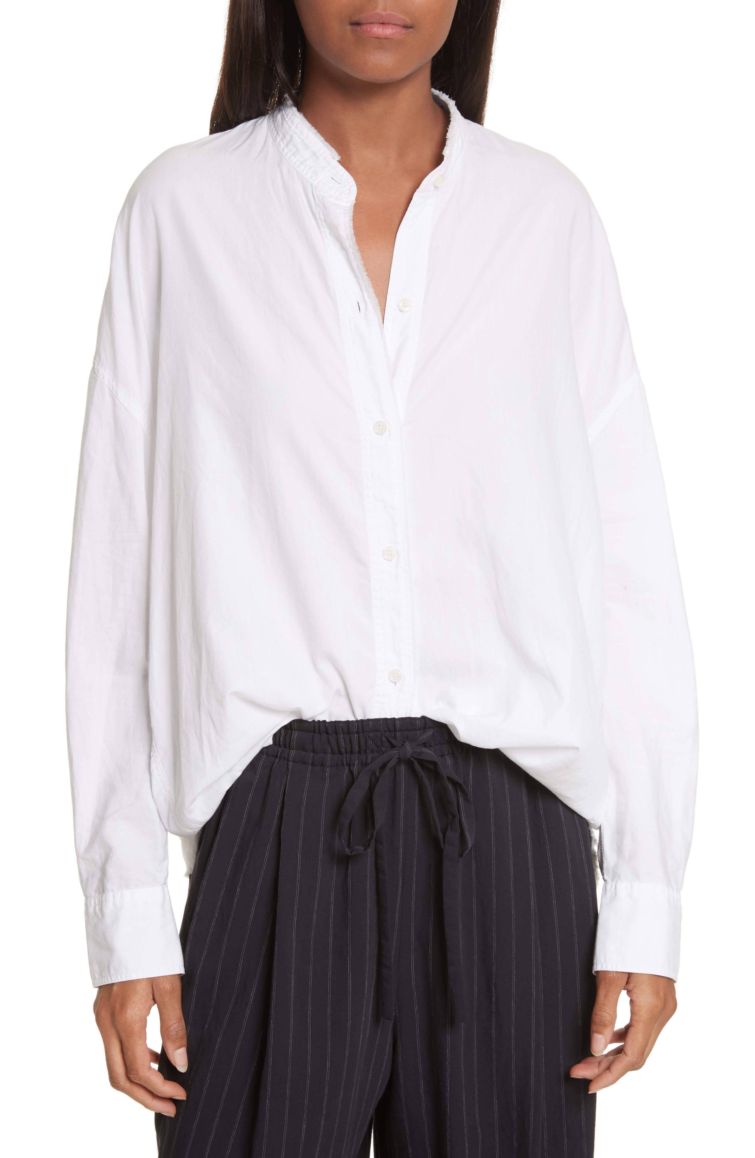Alternate Image 1 Selected - Vince Oversize Raw Edge Blouse