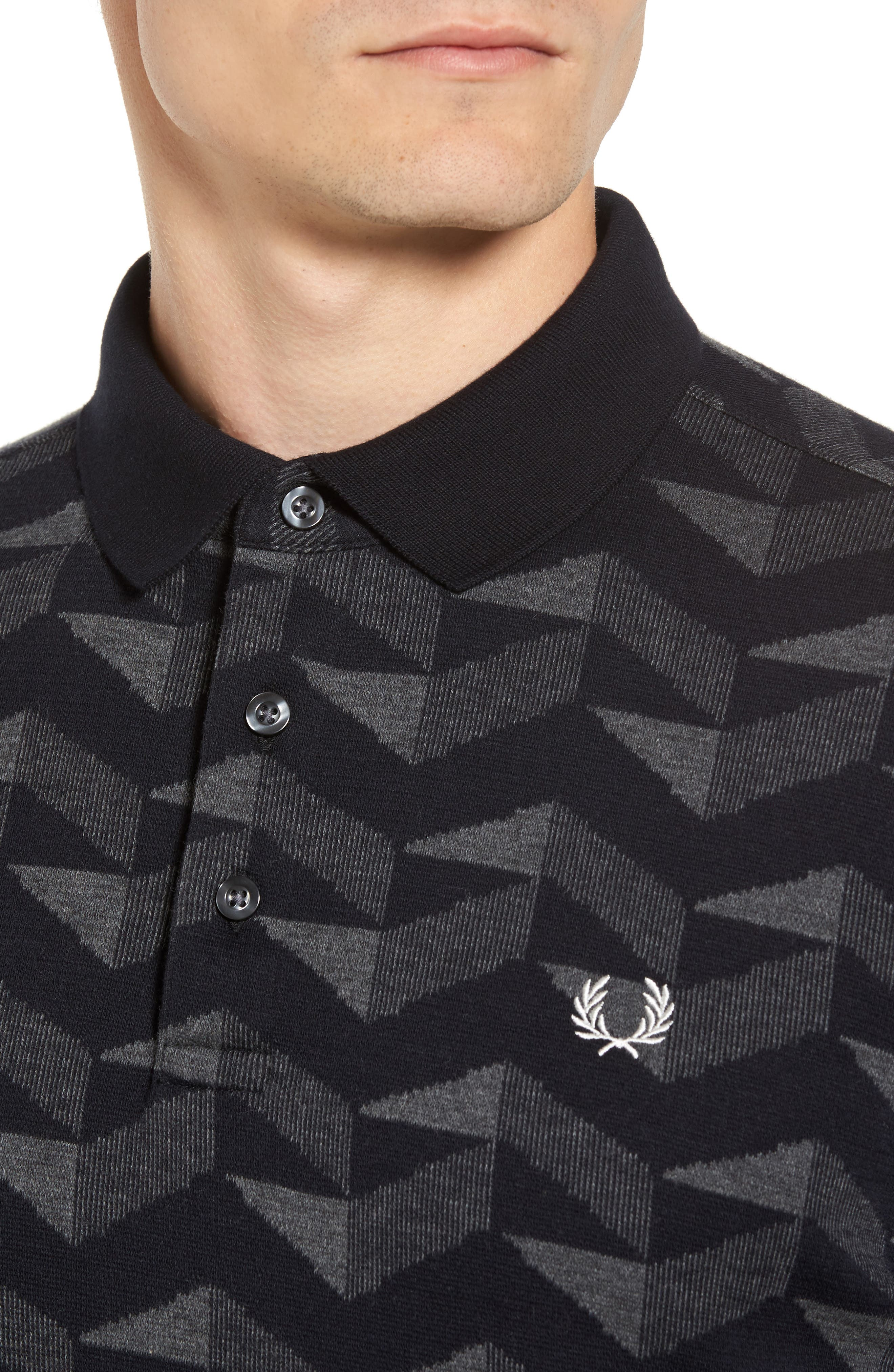 Alternate Image 4  - Fred Perry Jacquard Piqué Polo