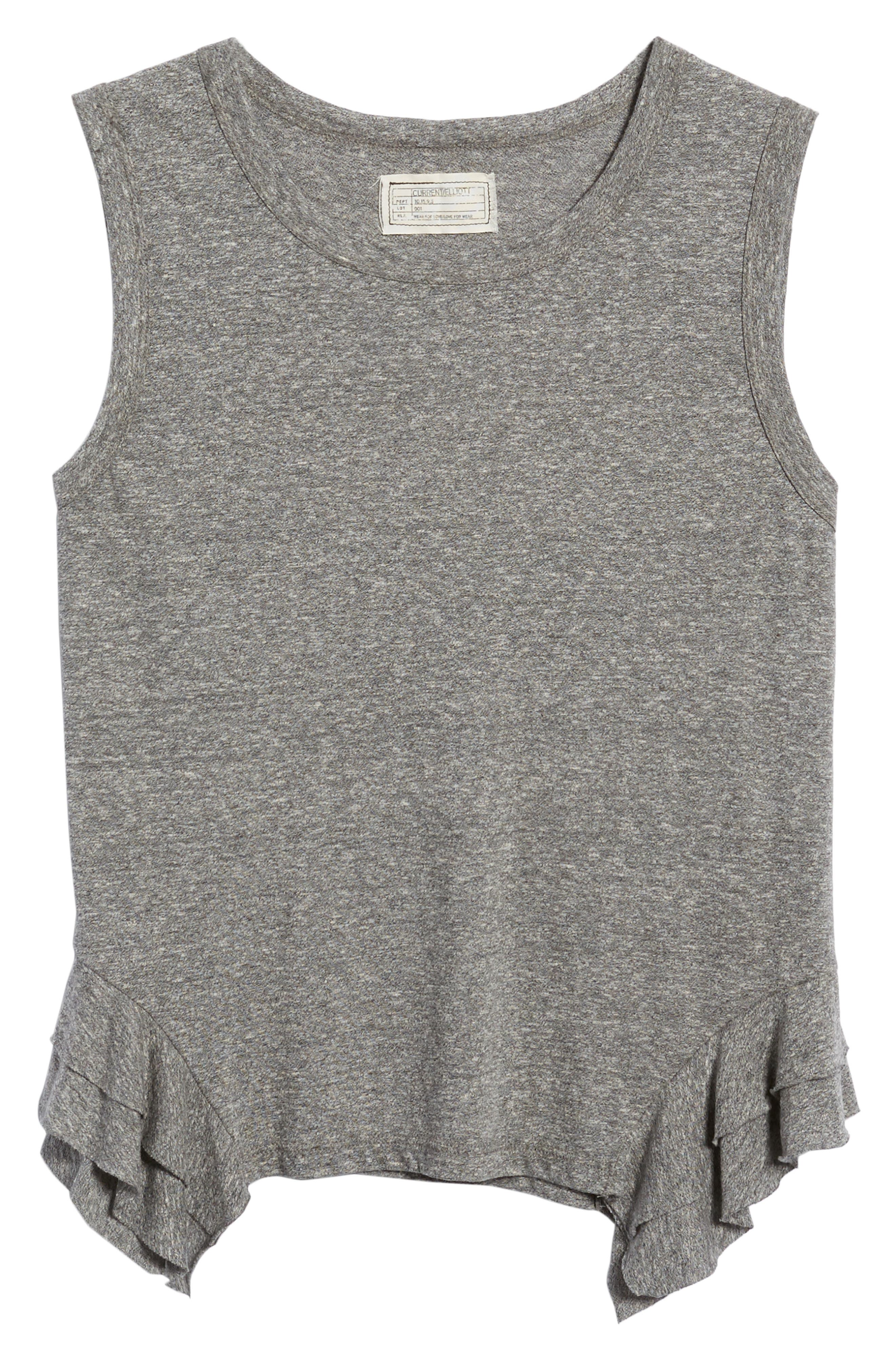 The Tier Muscle Tank,                             Alternate thumbnail 6, color,                             Heather Grey Jersey