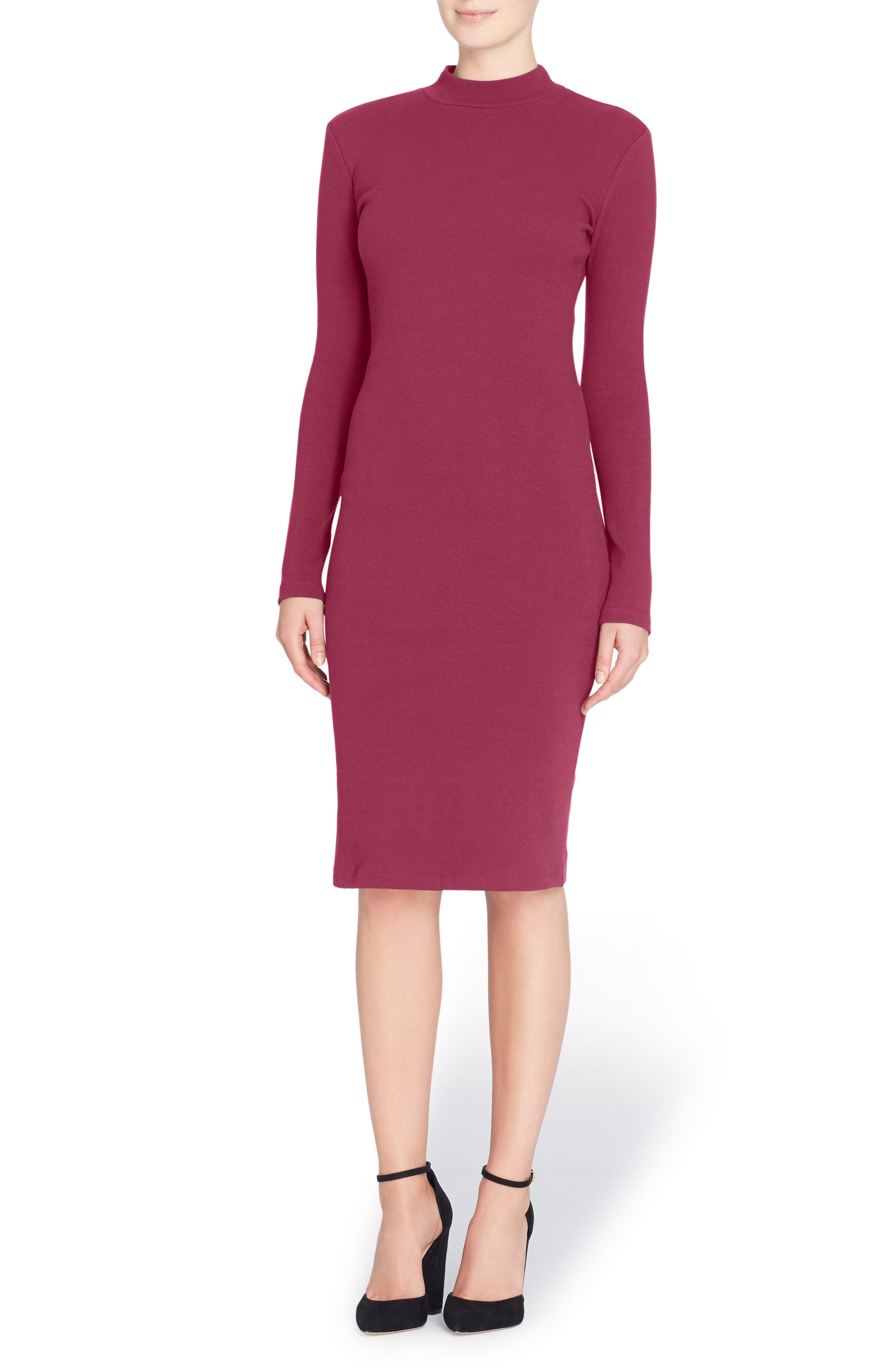 'Kristiana' Knit Midi Dress,                         Main,                         color, Grape Wine