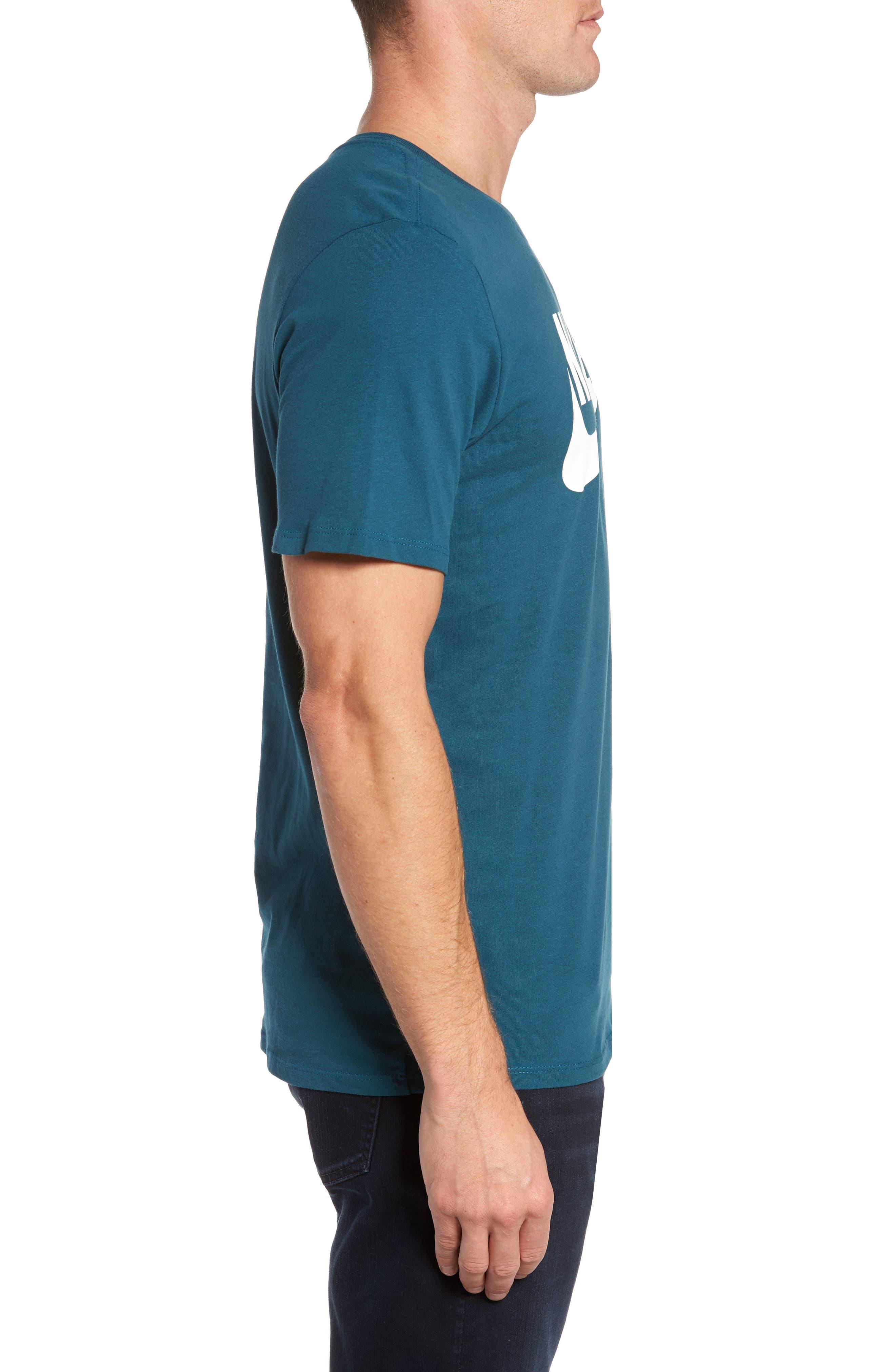 'Tee-Futura Icon' Graphic T-Shirt,                             Alternate thumbnail 3, color,                             Space Blue/ White