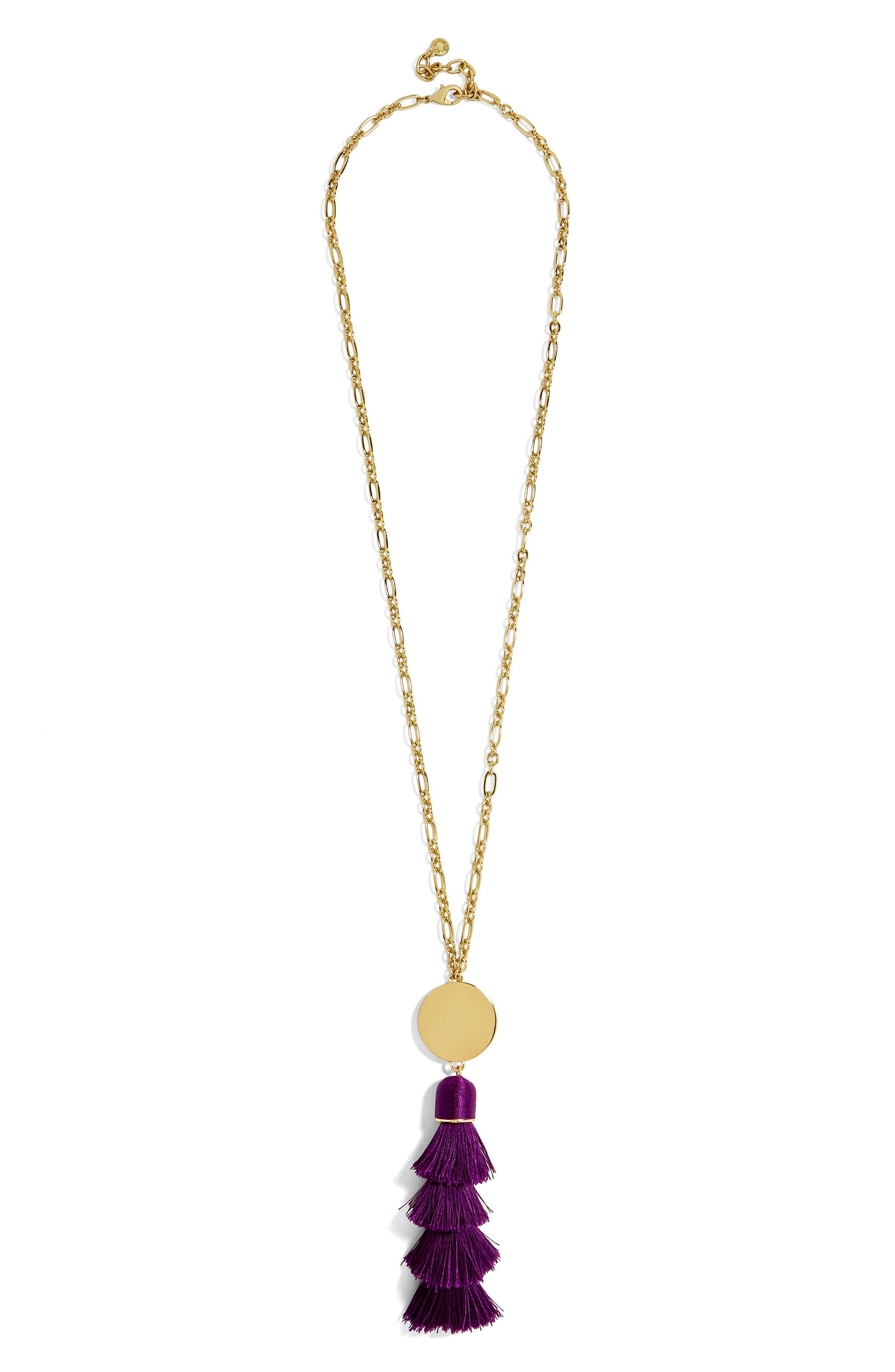 Alternate Image 1 Selected - BaubleBar Tahira Tassel Necklace