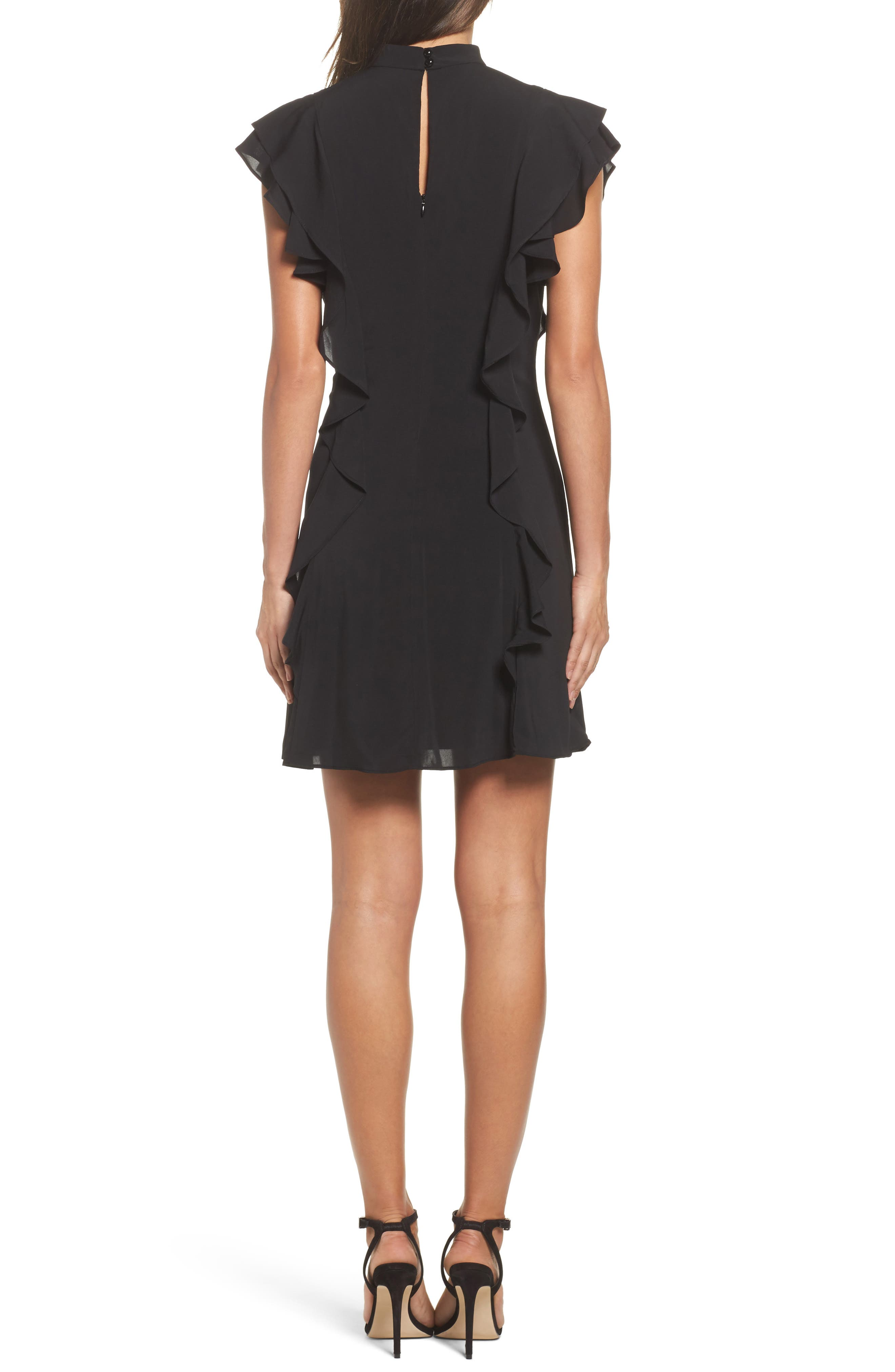 Alternate Image 2  - Julia Jordan Ruffle Tie Neck Sheath Dress